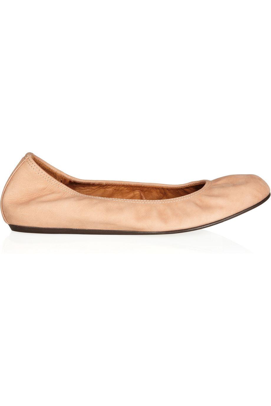 5 10 7 Lanvin Uk Us 40 5 Flats Ballerina Eu 5 Leather w00OqvX