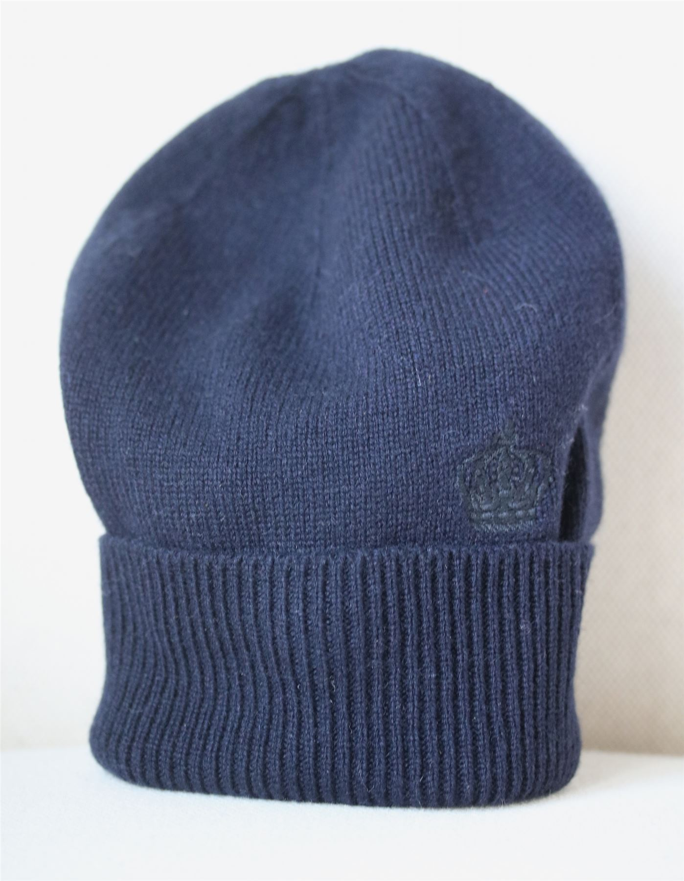 6c947033bcf9 Details about DOLCE   GABBANA NAVY BLUE CASHMERE HAT S 2-4 YEARS
