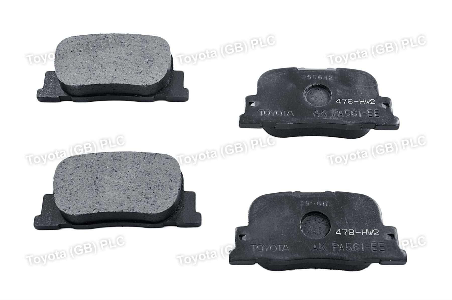 Genuine Toyota Prius Car Replacement Brake Pads Rear 446647010 Ebay When To Change