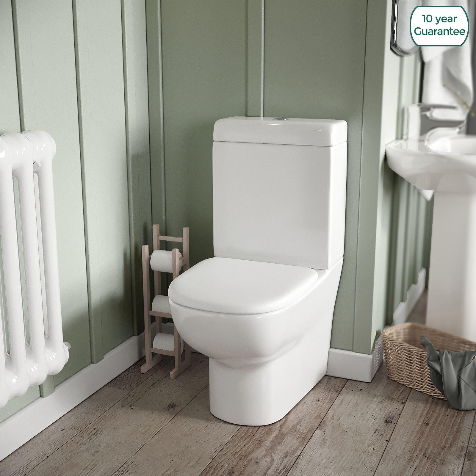Excellent Details About Linnsdale Bathroom Ceramic Close Couple Toilet Pan Soft Close Seat And Cistern Creativecarmelina Interior Chair Design Creativecarmelinacom