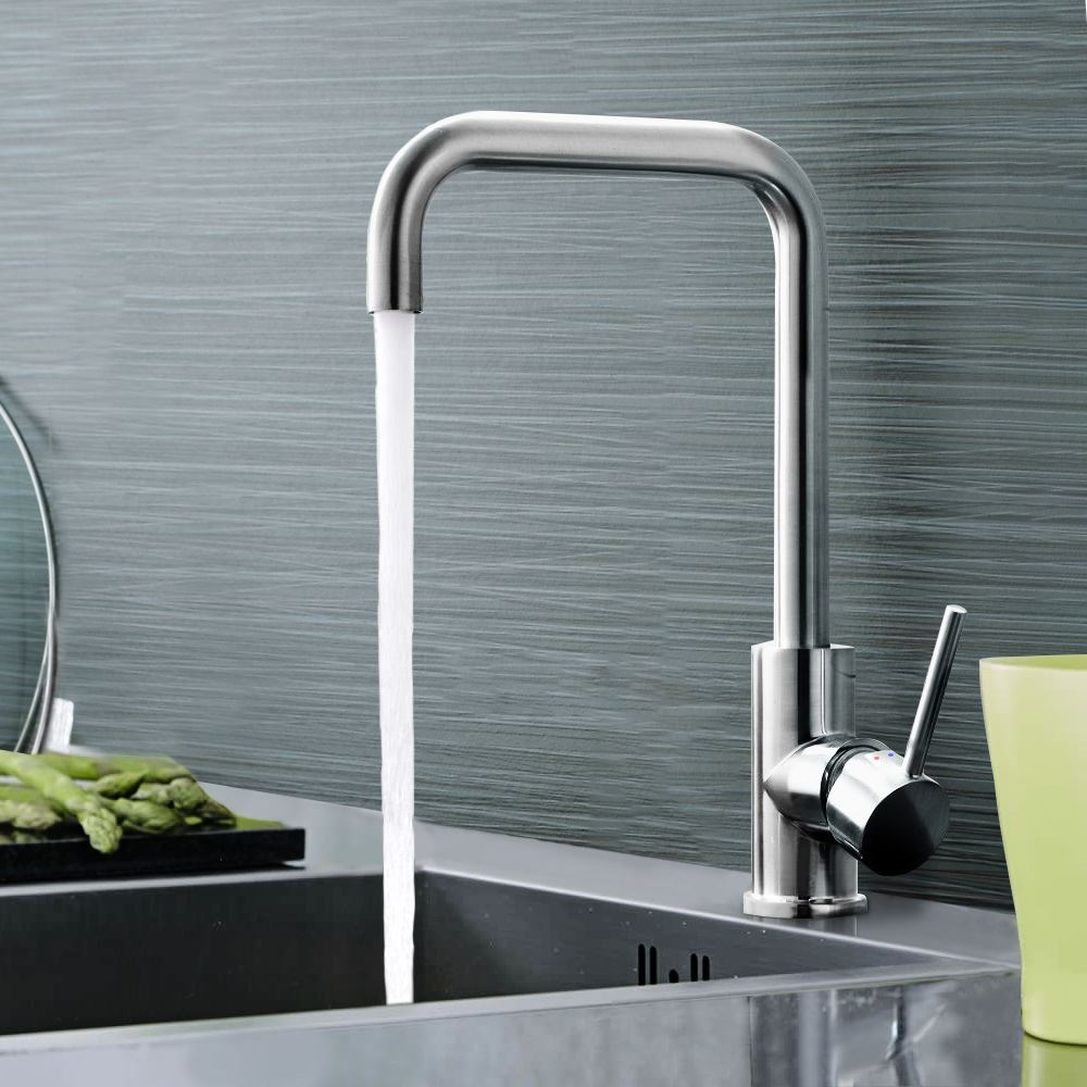 ELIMPUS MODERN CHROME SINGLE LEVER SWIVEL SPOUT KITCHEN SINK MONO ...