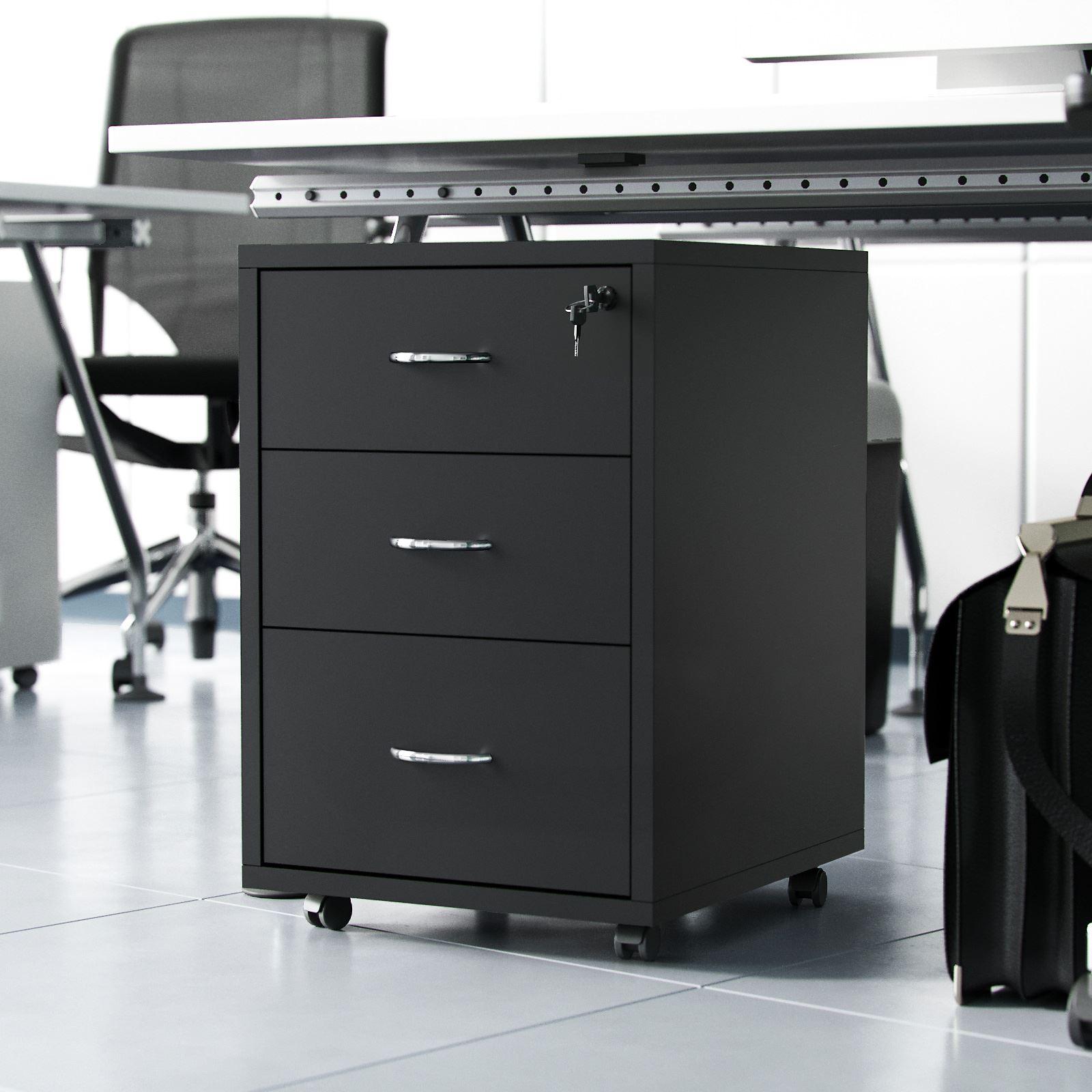 Remarkable Details About Filing Black Pedestal Under Desk Counter Office Cabinet 3 Drawers Lockable Chest Download Free Architecture Designs Embacsunscenecom