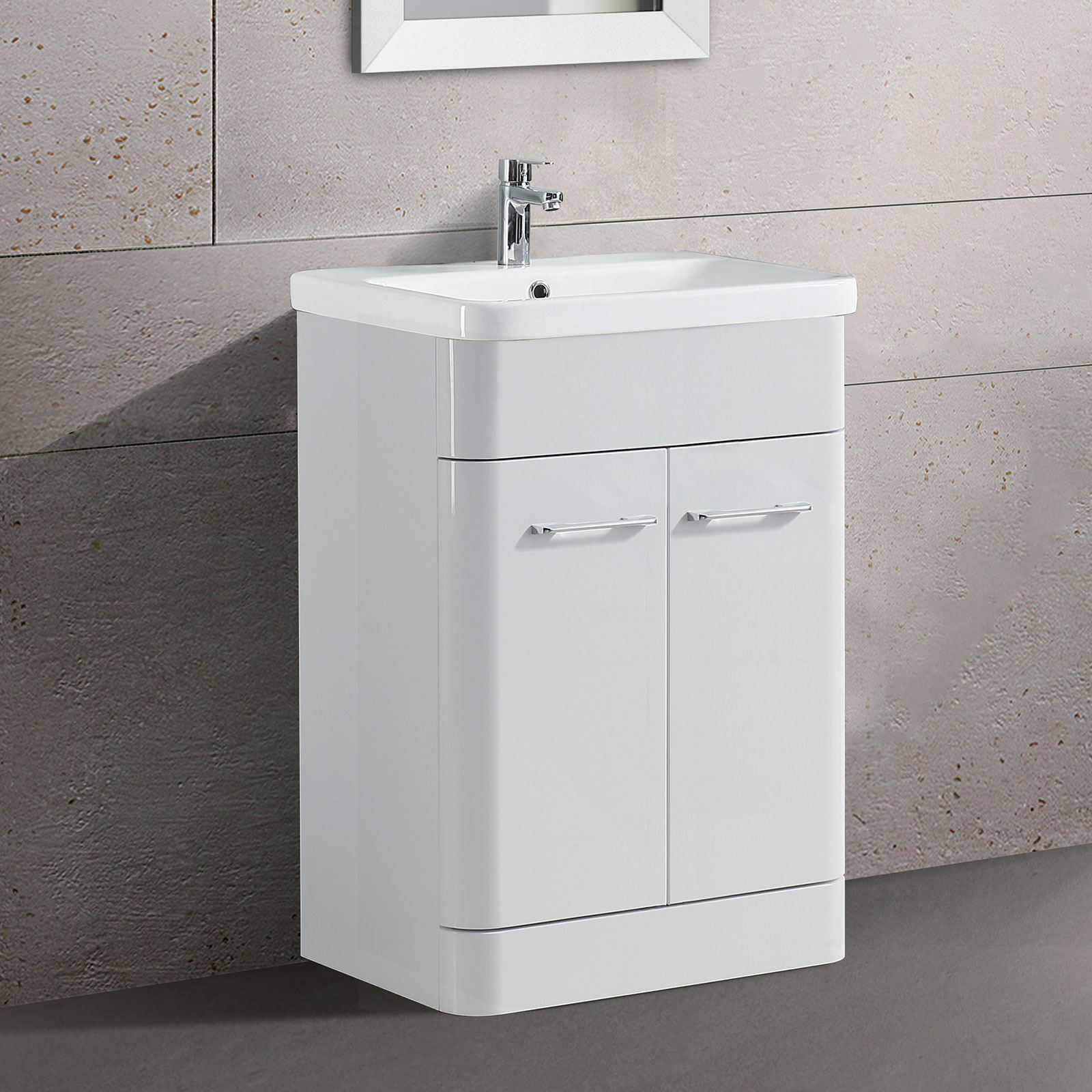 white gloss bathroom unit lorey freestanding bathroom vanity unit ceramic basin 21543