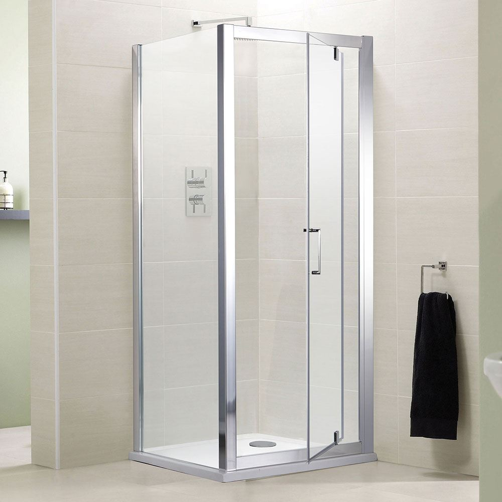 LAUREL FRAMED 760 X 760 PIVOT DOOR SHOWER ENCLOSURE WITH PANEL   eBay