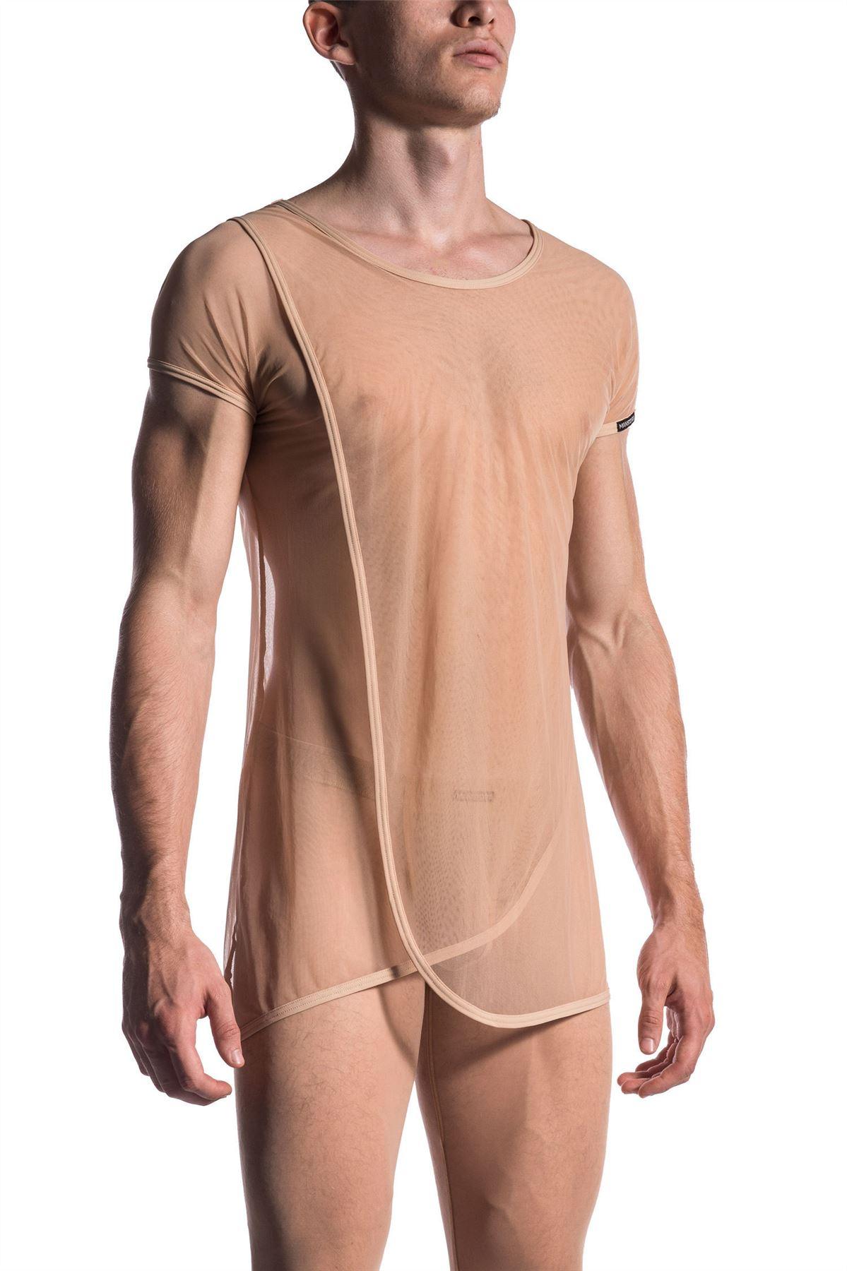 men Naked white woman s shirt
