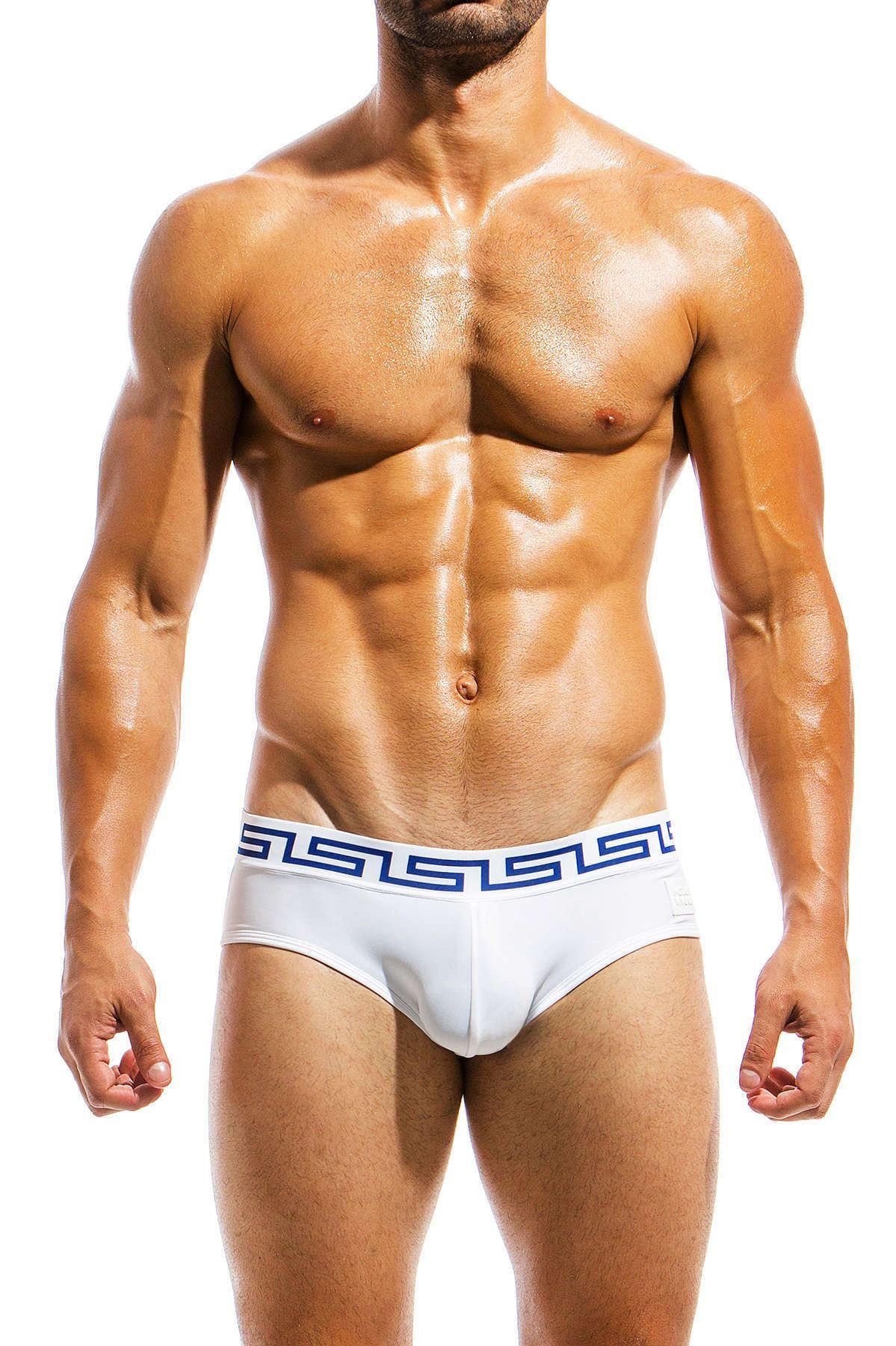 eb58da78544c3 Modus Vivendi Men's Meander Swim Brief Blue White Swimwear | eBay