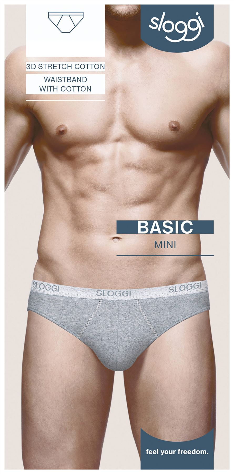 Sloggi-Basic-Mini-Brief-For-Men-Black-White-Grey-Navy miniatuur 4