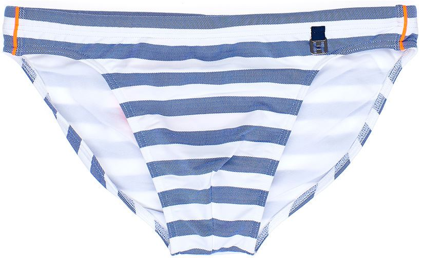 f41a4cb14ae HOM Rivages Swim Micro Briefs men's swimwear slip male bikini stripes blue  white