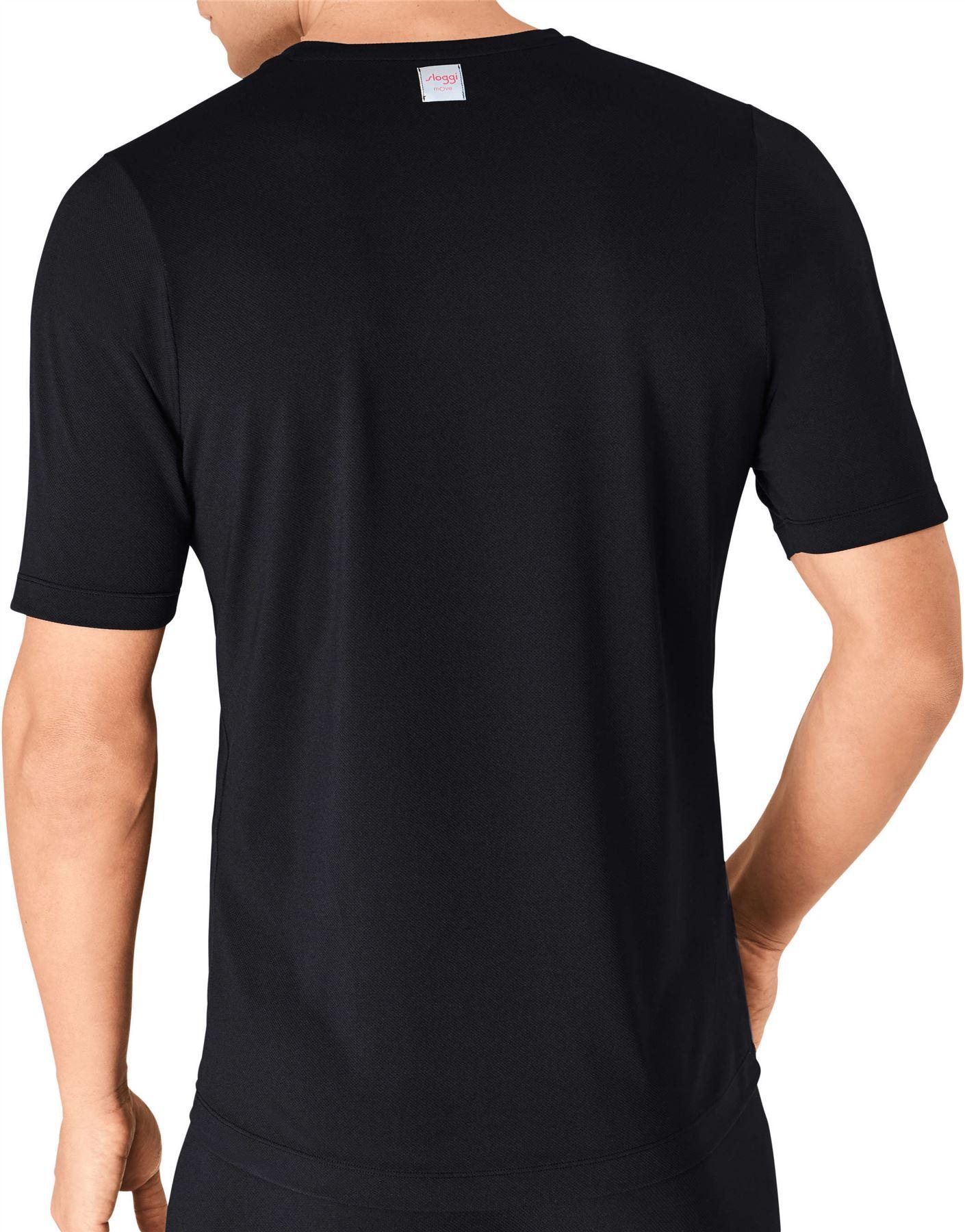 SLOGGI-spostare-FLEX-V-Neck-T-SHIRT-MEN-039-S-Underwear-Top-Sport-Maglia-Manica-Corta-Palestra miniatura 5