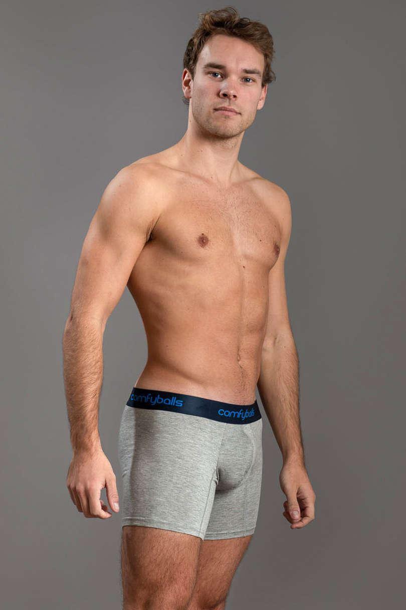 Comfyballs Mens Wood Cotton Long Boxer Shorts Underwear