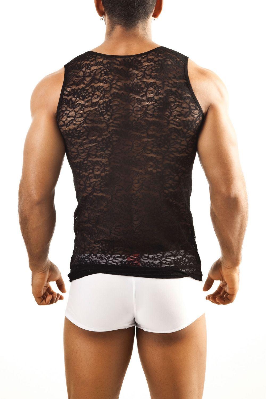 Joe Snyder Mens Lacy Bulge 04 Full Bikini Brief Lace Effect Micro Slip