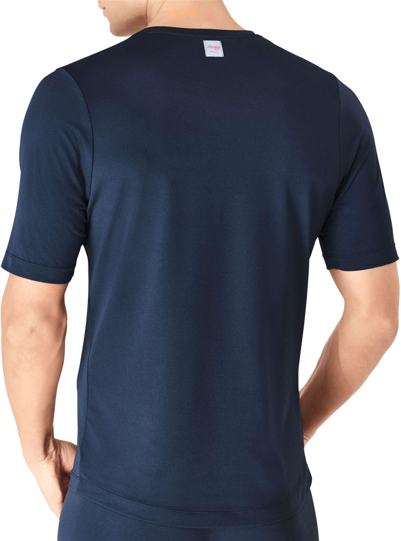 SLOGGI-spostare-FLEX-V-Neck-T-SHIRT-MEN-039-S-Underwear-Top-Sport-Maglia-Manica-Corta-Palestra miniatura 3