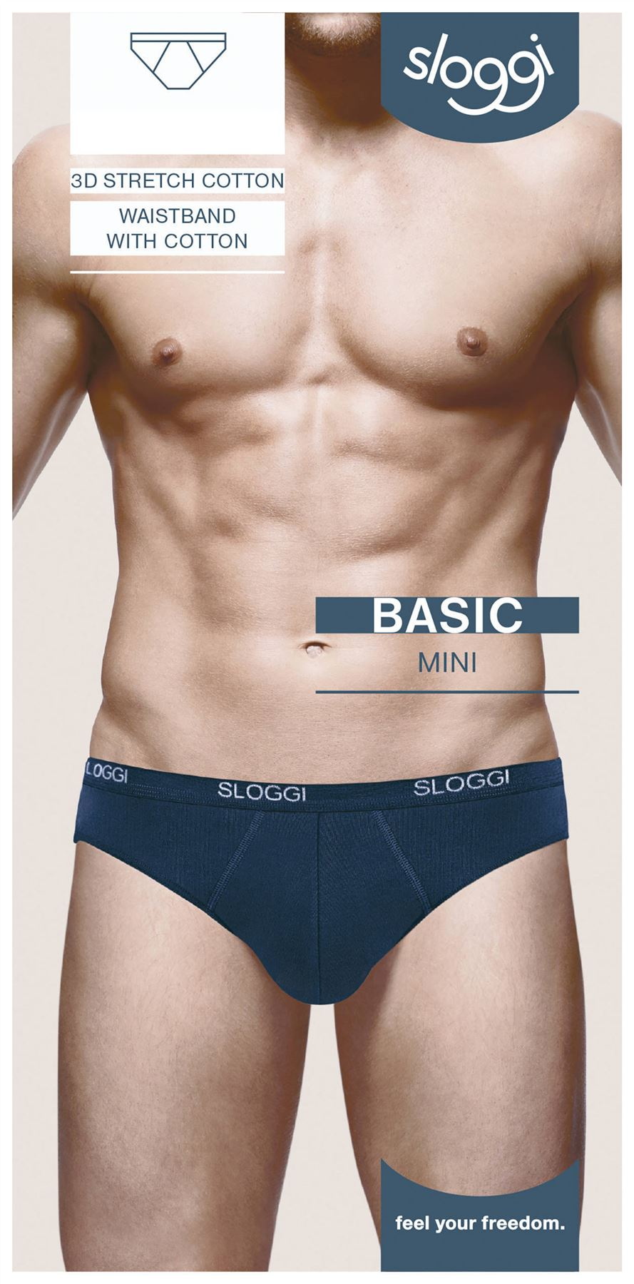 Sloggi-Basic-Mini-Brief-For-Men-Black-White-Grey-Navy miniatuur 6