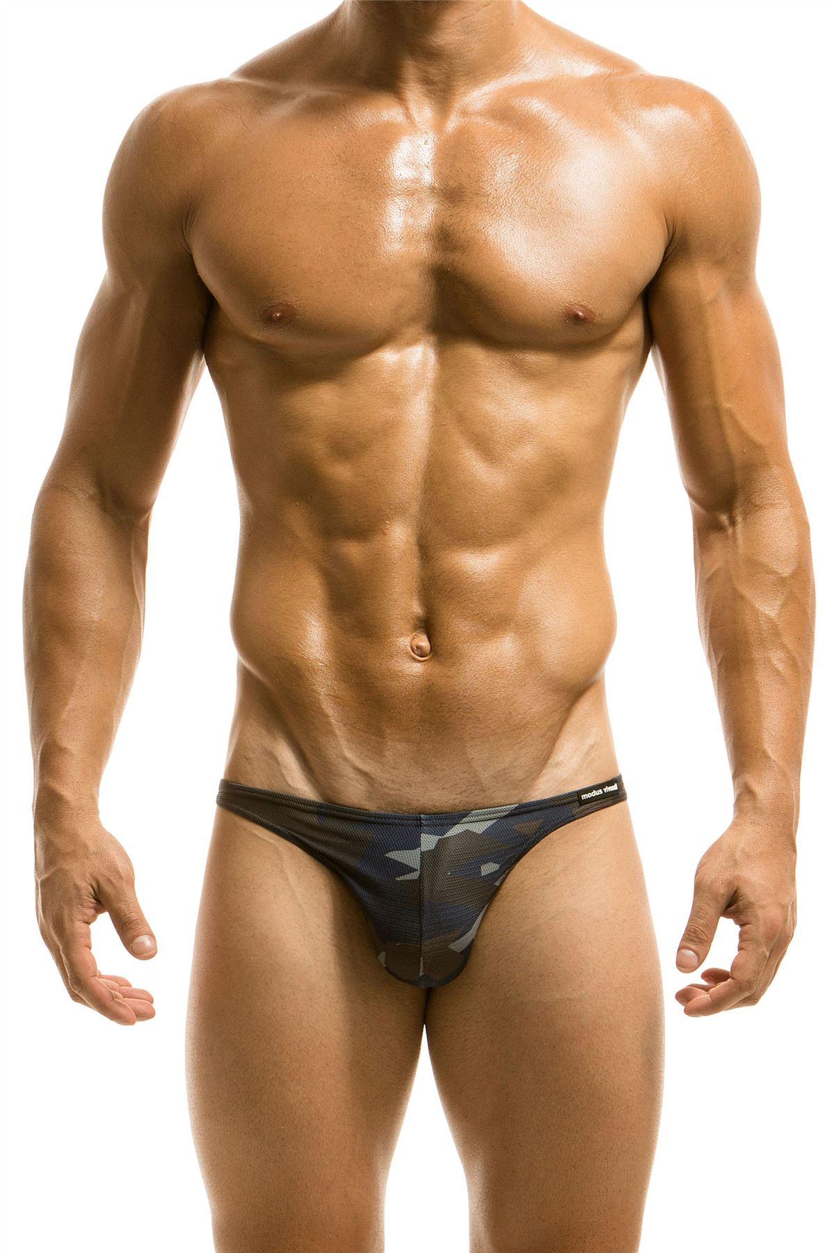 MODUS VIVENDI UOMO CAMOUFLAGE Low Cut Swim Slip Bikini Costumi da ...