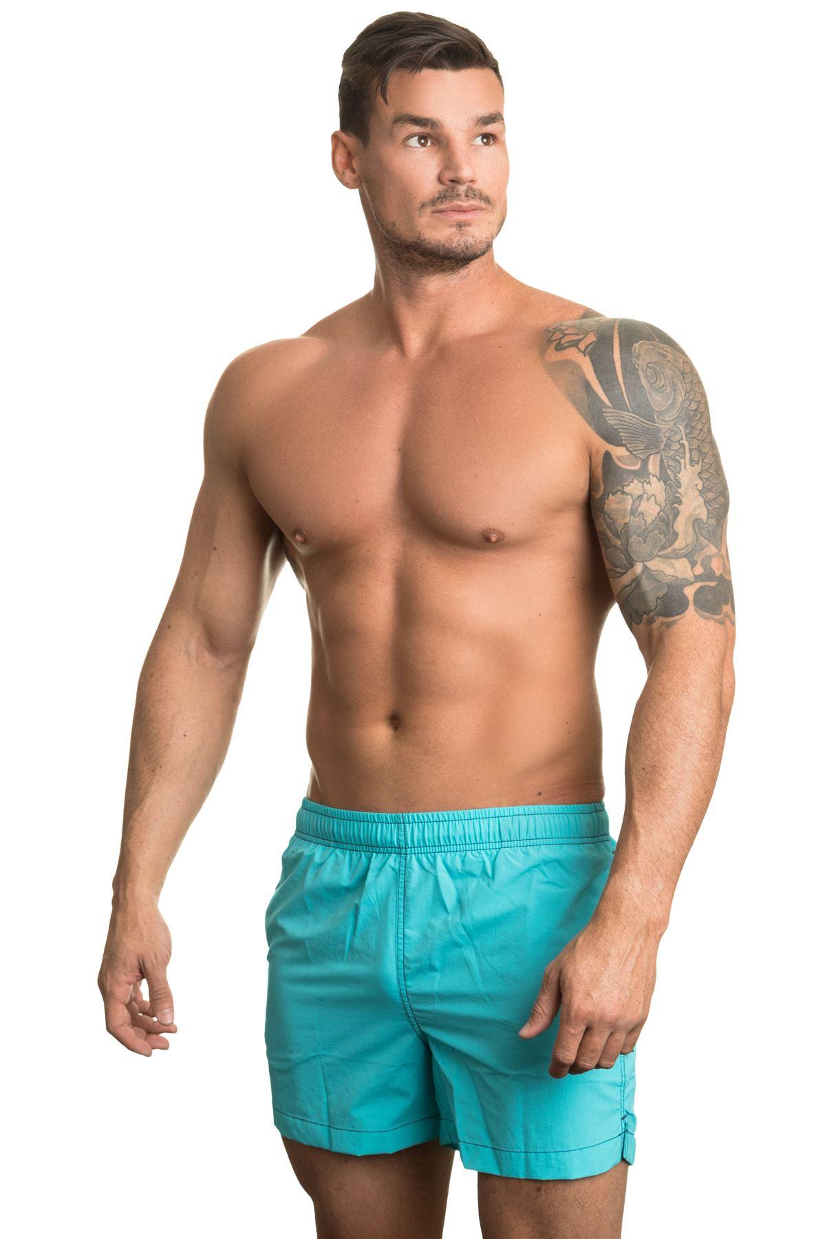 5cfb33475d2cf Jockey Men's Sunset Beach Swim Shorts Turquoise Blue Swimming Trunk ...