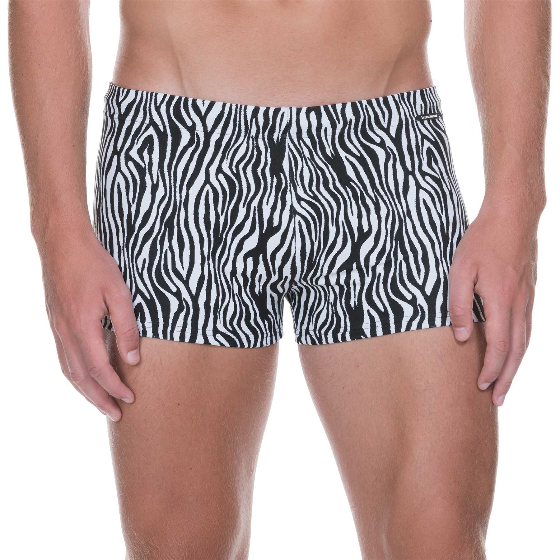 60300cb556 Bruno Banani Men's Zebra Life Swim Short Swimwear Black White Swimming Trunk