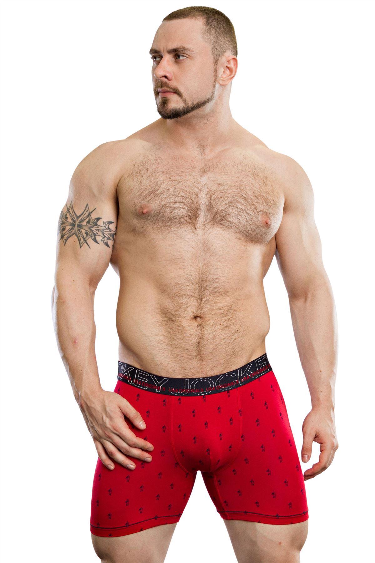 Jockey Men/'s Home Town Boxer Trunk Soft Cotton Modal Long Trunk Underwear