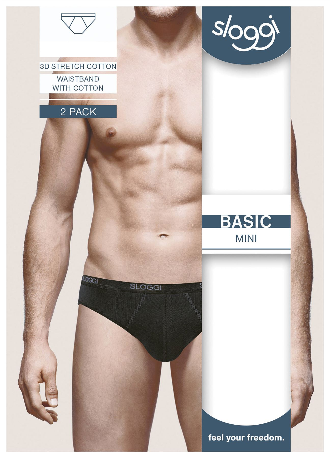 Sloggi-Basic-Mini-Brief-For-Men-Black-White-Grey-Navy miniatuur 9