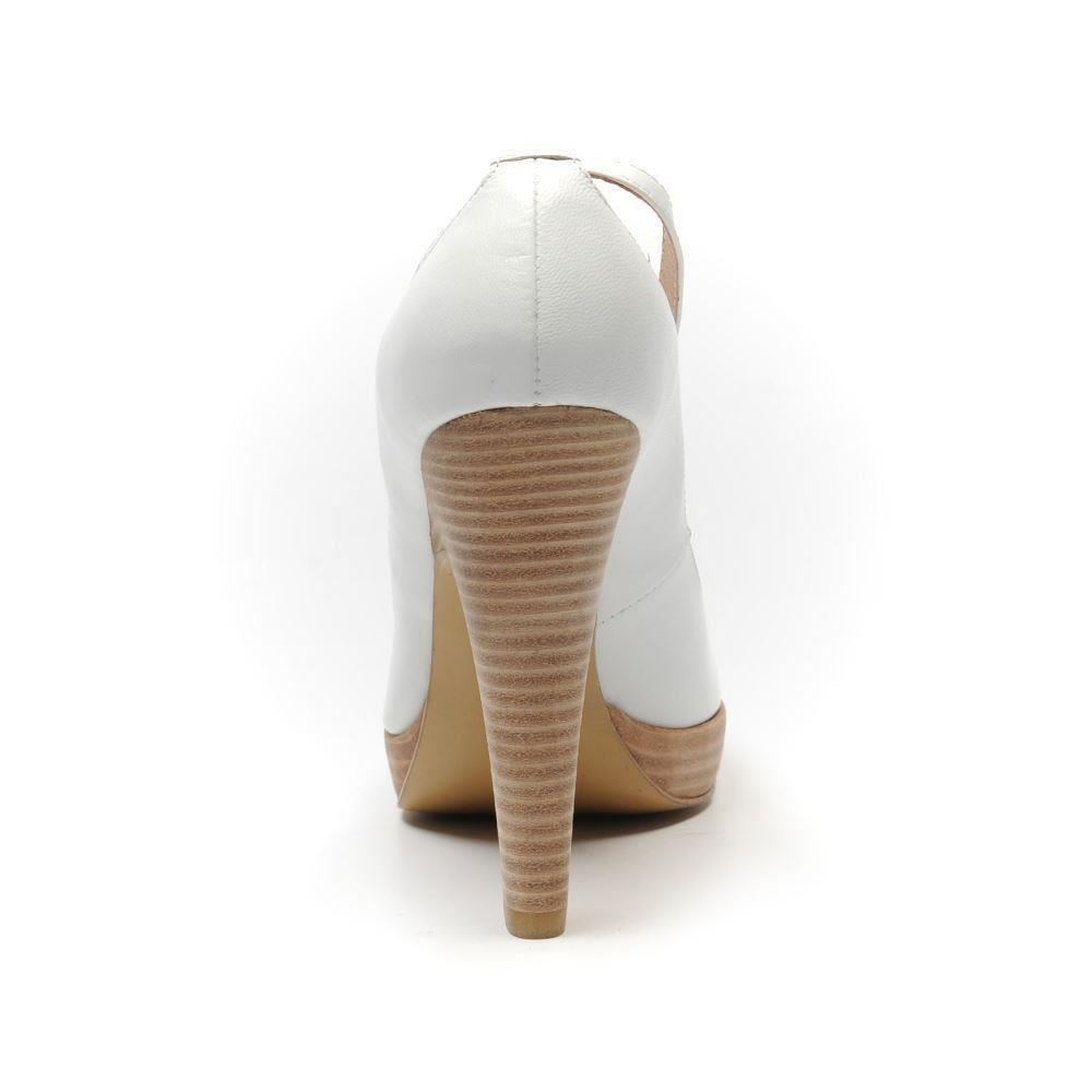 4 97 Sb Leather 37 Shoes Fiona Size Mcguinness White Heels Uk qfwxn14S