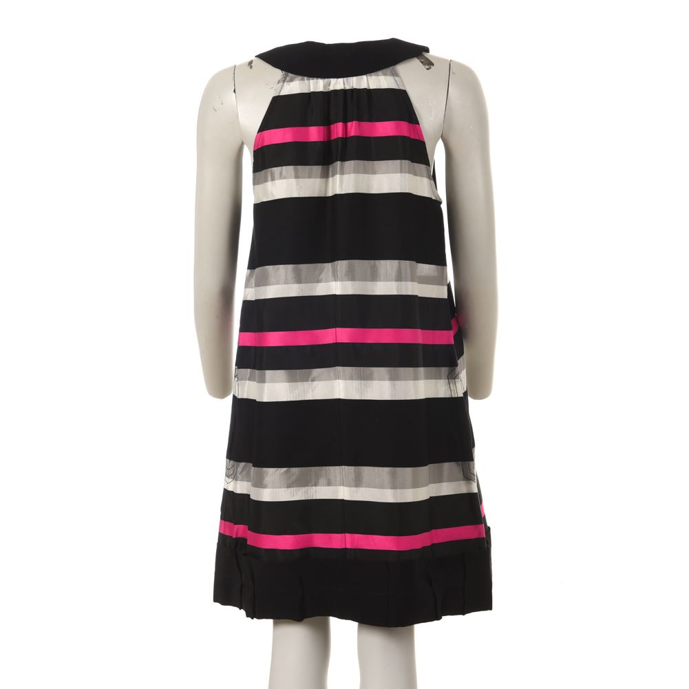 9666e7f2d Details about SONIA BY SONIA RYKIEL Dress Black Pink Grey Size UK 12 DP 118