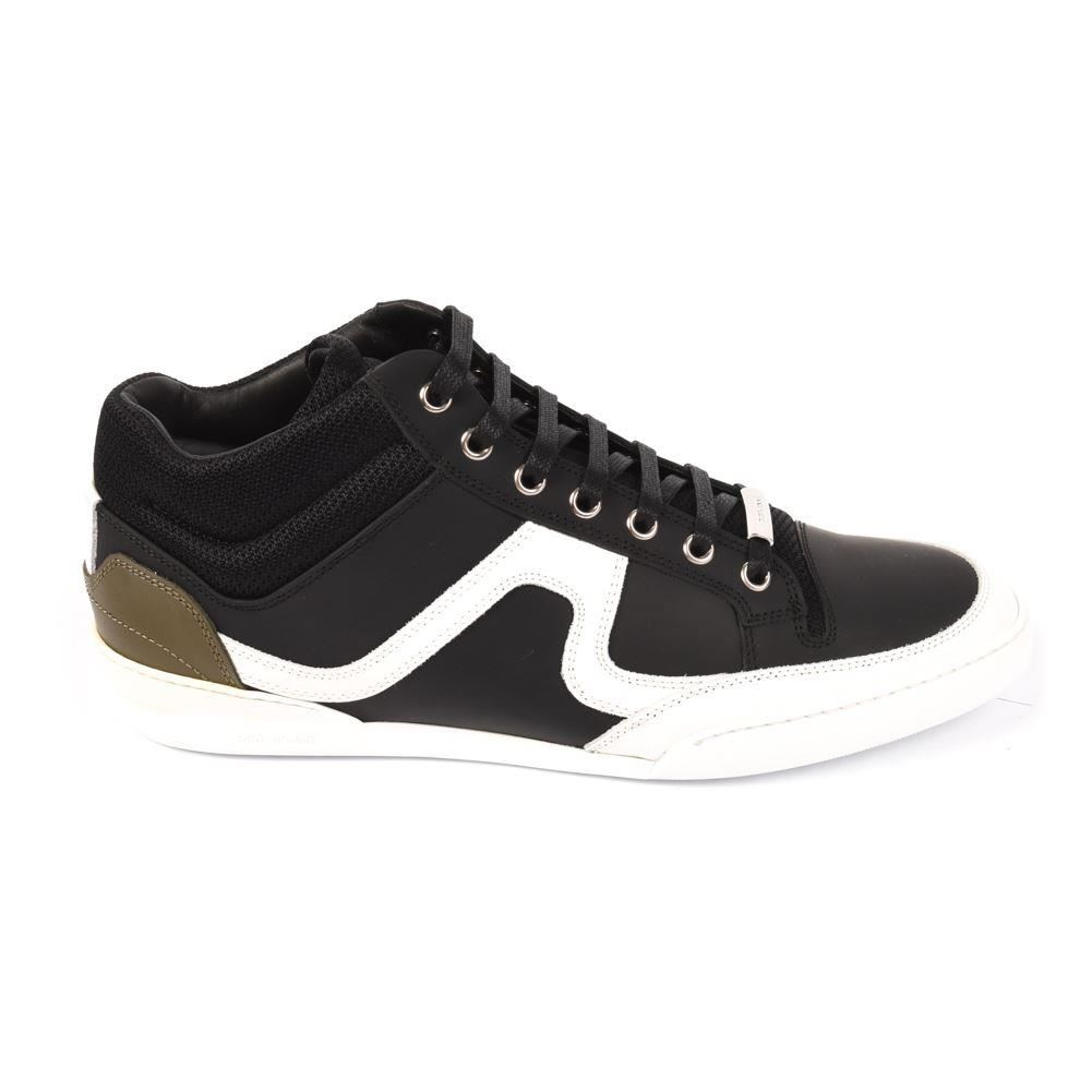 ea1e674ed2 CHRISTIAN DIOR Sneakers Black White Leather Lace Up Size 42 UK 8 AP 209a