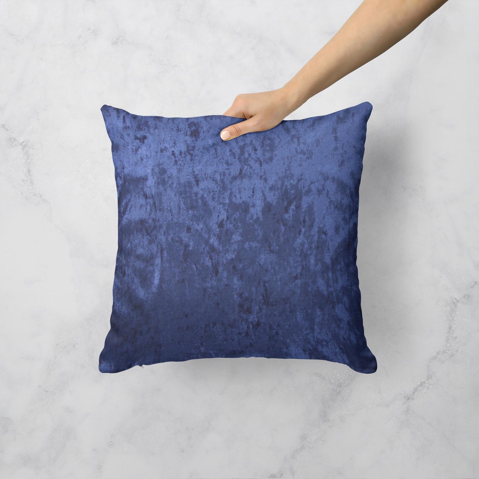 Cuscino-di-velluto-schiacciato-copre-GLAM-Tinta-Unita-Copricuscino-18-034-x-18-034-45cm-x-45cm miniatura 24