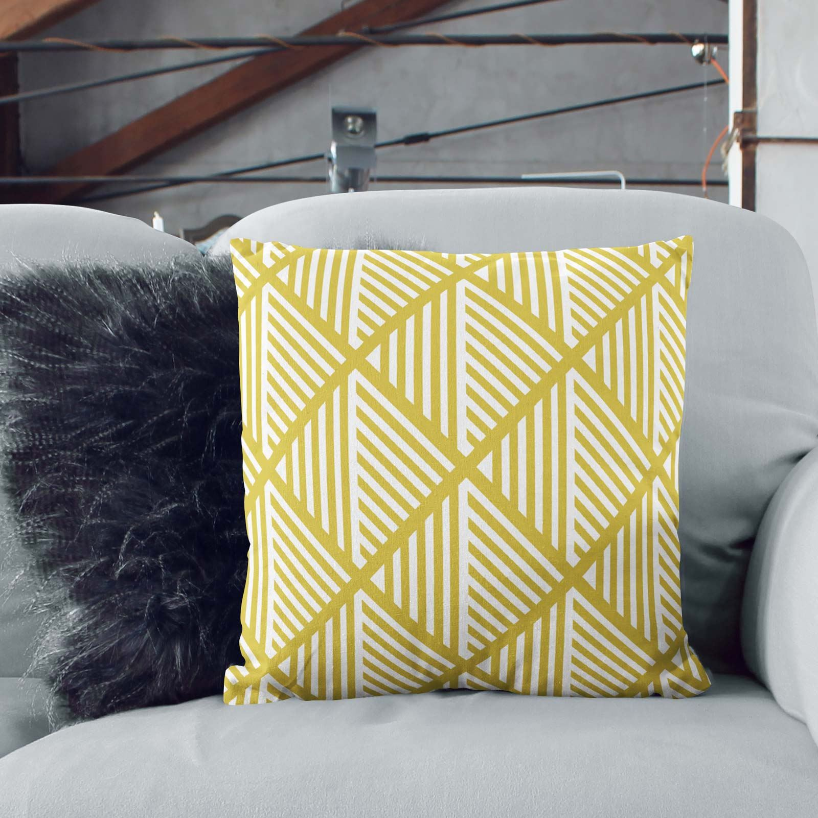 Grey-Ochre-Mustard-Cushion-Cover-Collection-17-034-18-034-Covers-Filled-Cushions thumbnail 43