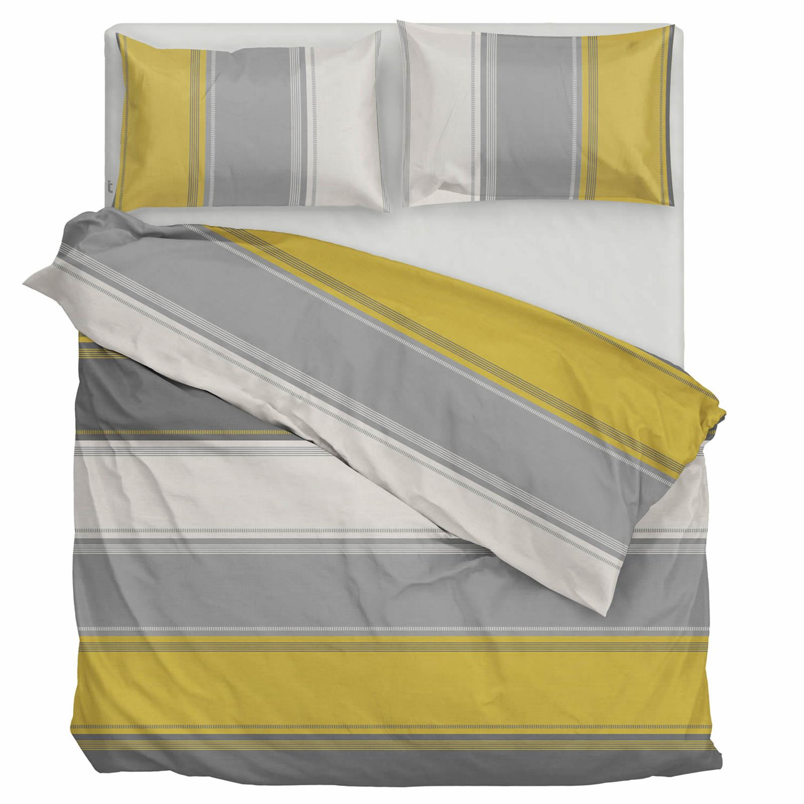 Ochre Duvet Cover Yellow Mustard Printed Quilt Set Bedding