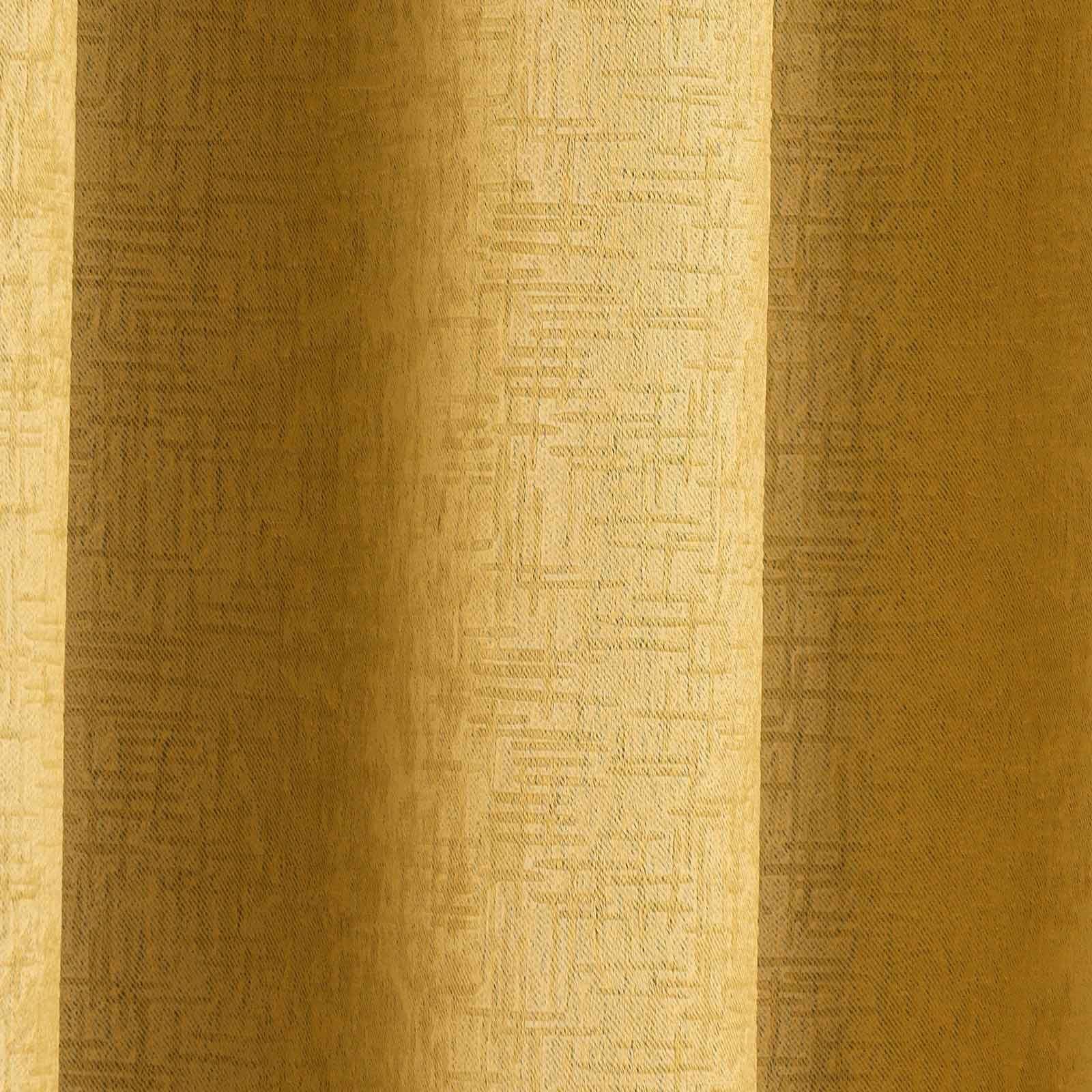 Cortina-con-Ojales-de-mostaza-pares-Amarillo-Ocre-Anillo-Top-Forrado-Listo-Cortinas miniatura 14