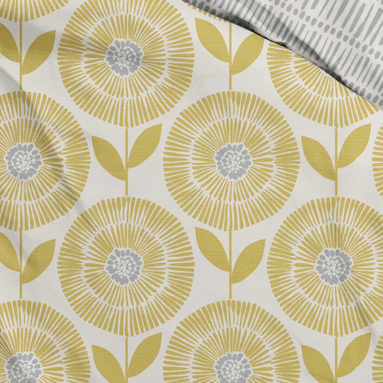 Mostaza-amarillo-ocre-Conjunto-de-Edredon-De-Funda-De-Edredon-Funda-De-Almohada-Individual-Doble miniatura 3