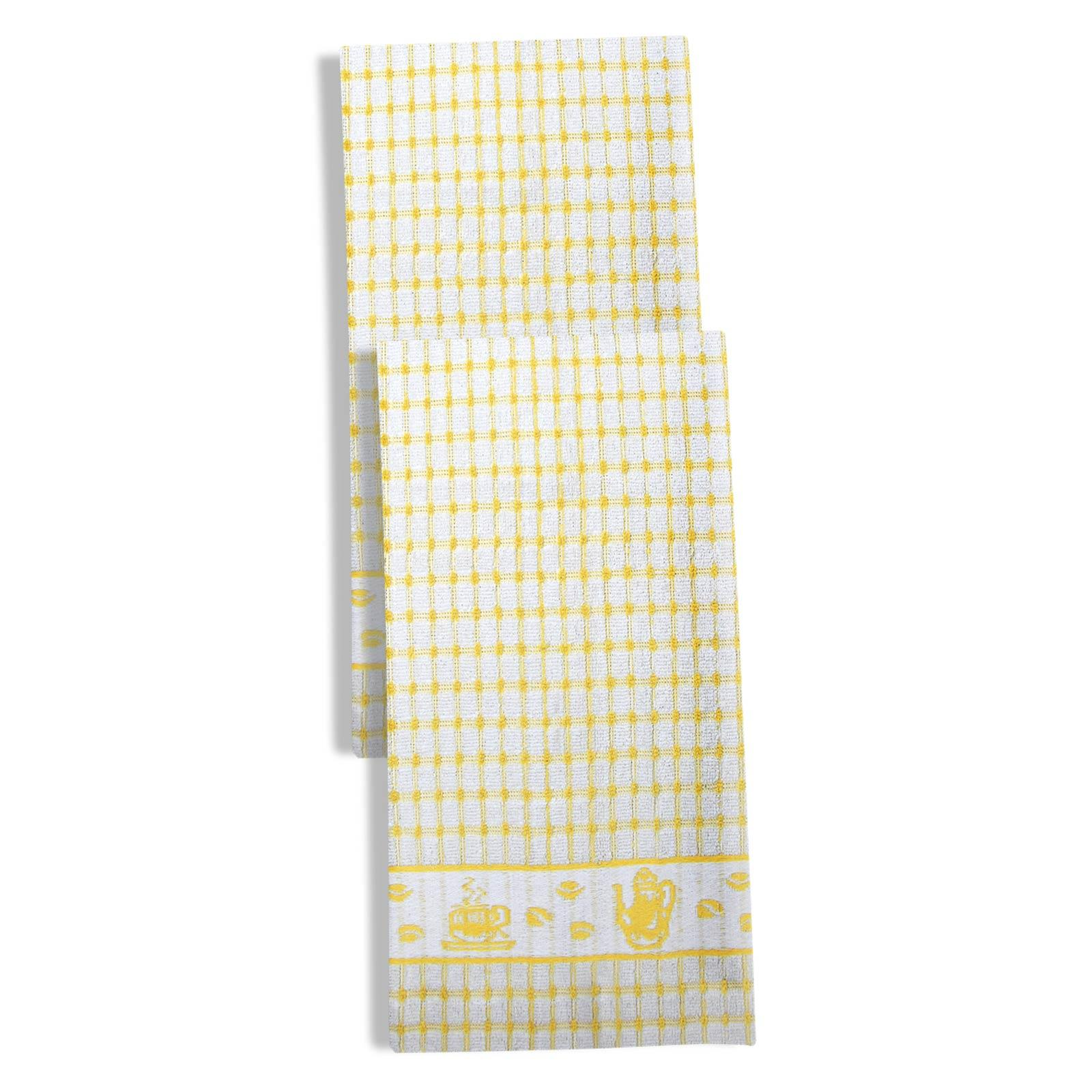 Packs-of-2-4-6-12-Tea-Towels-100-Cotton-Terry-Kitchen-Dish-Drying-Towel-Sets thumbnail 18