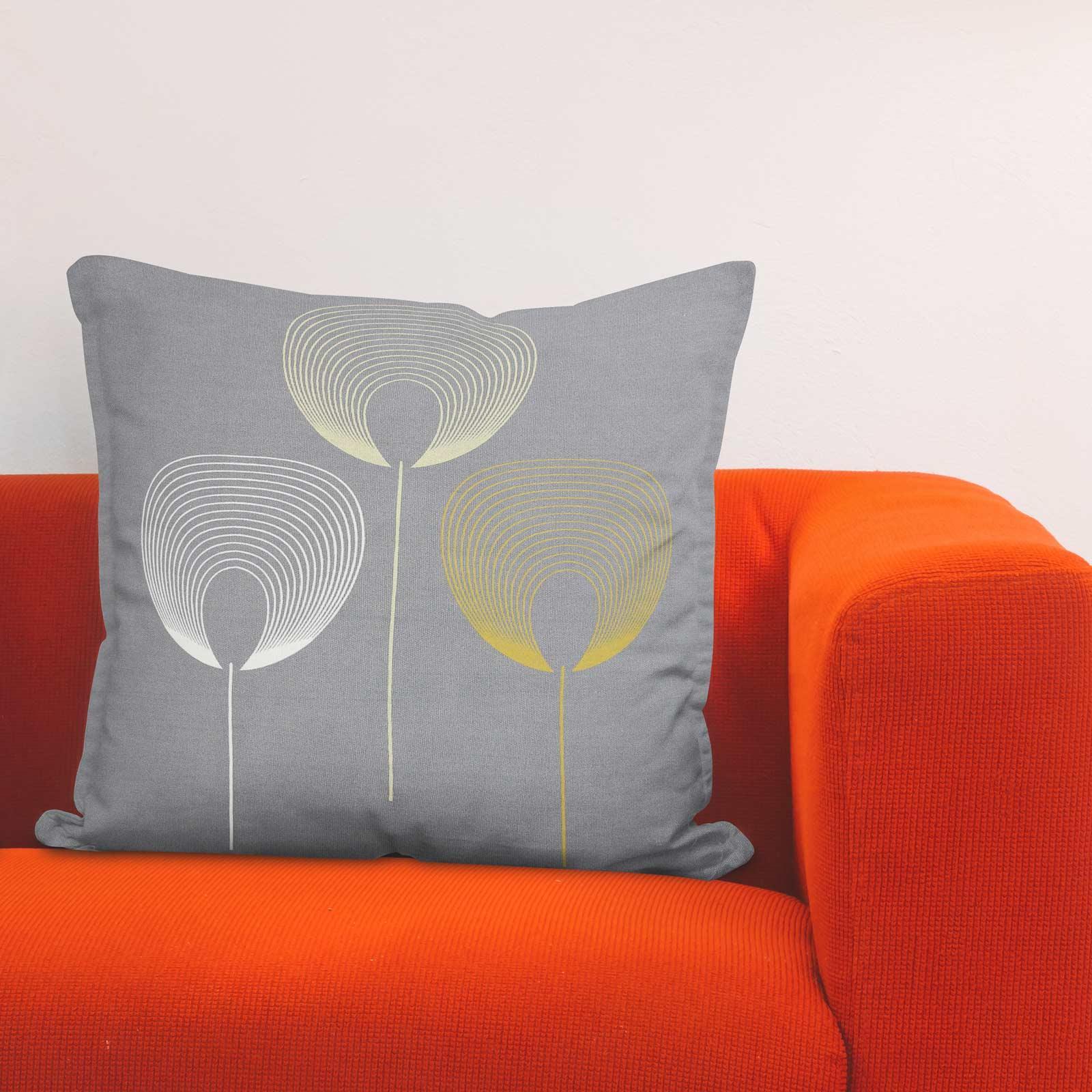 Geometrica-Cushion-Covers-Cojines-De-Impresion-Floral-Gris-Beige-Ocre-cubre-17-034-X-17-034 miniatura 19