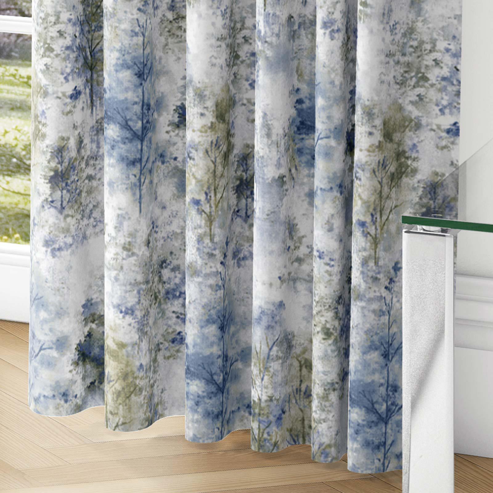Woodland-Cinta-superior-Cortinas-de-arboles-de-impresion-Ready-Made-3-034-pares-de-cortina-plisado miniatura 12