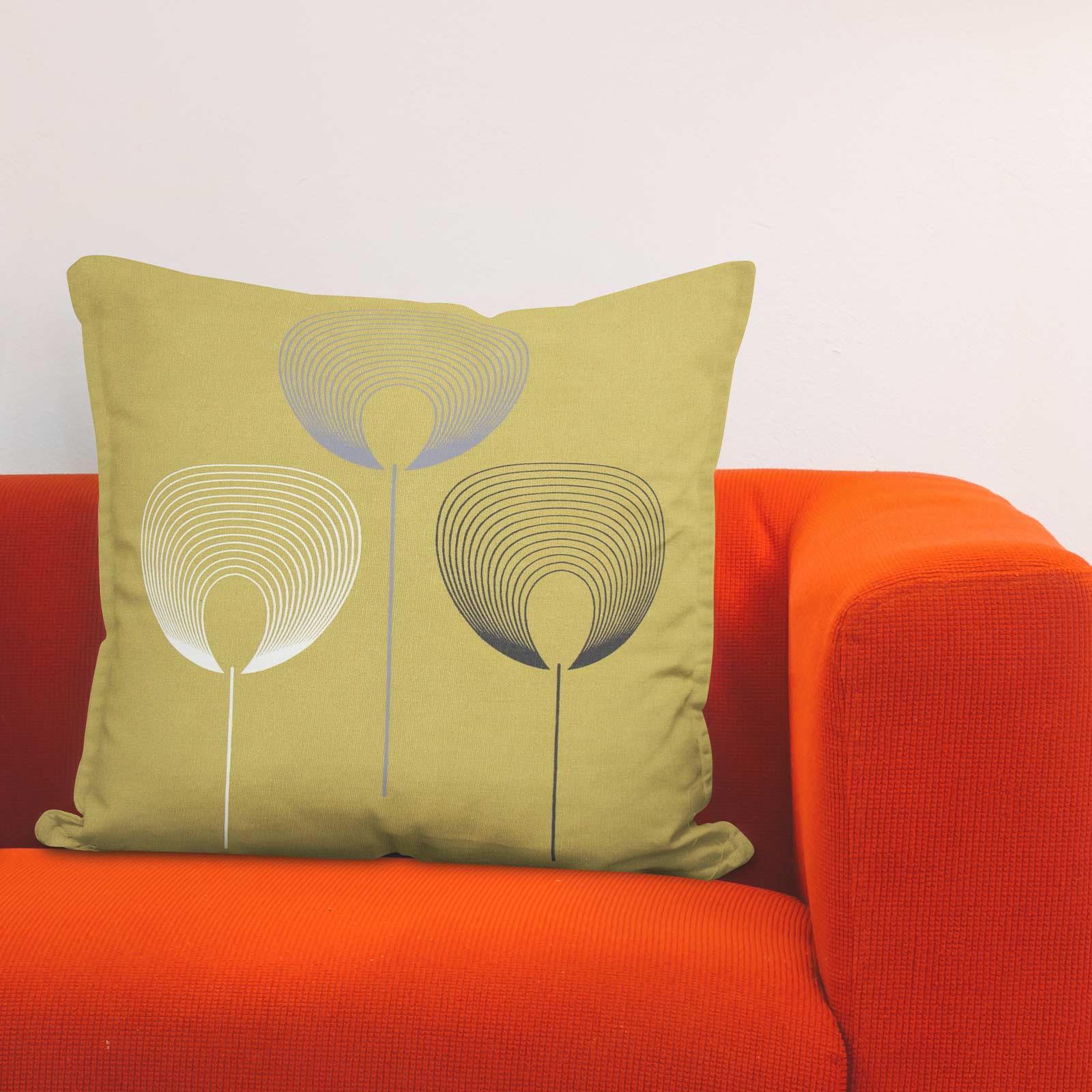 Geometrica-Cushion-Covers-Cojines-De-Impresion-Floral-Gris-Beige-Ocre-cubre-17-034-X-17-034 miniatura 7