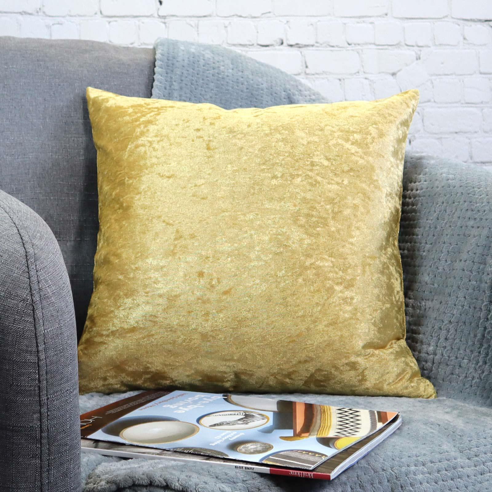 Cuscino-di-velluto-schiacciato-copre-GLAM-Tinta-Unita-Copricuscino-18-034-x-18-034-45cm-x-45cm miniatura 13