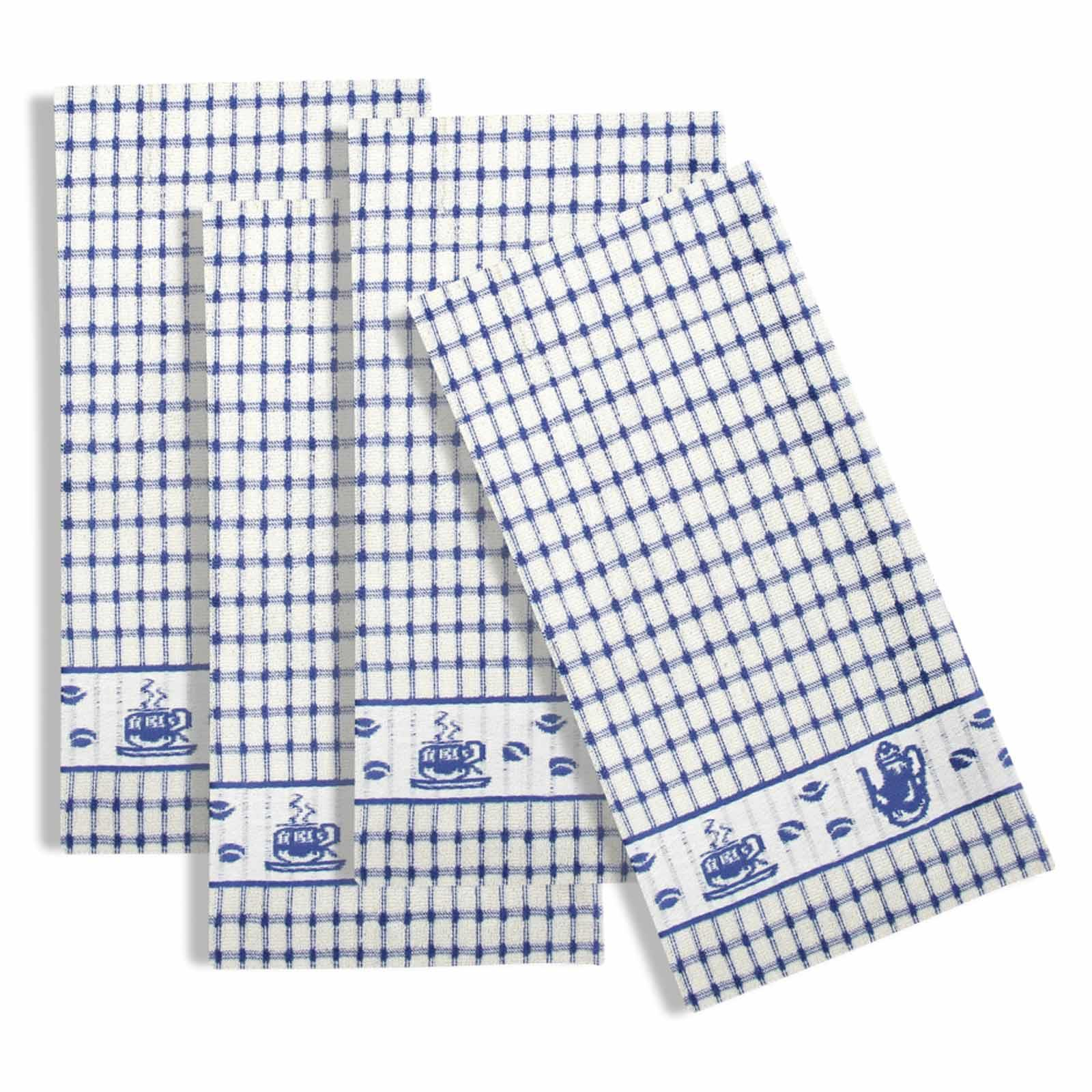Packs-of-2-4-6-12-Tea-Towels-100-Cotton-Terry-Kitchen-Dish-Drying-Towel-Sets thumbnail 66