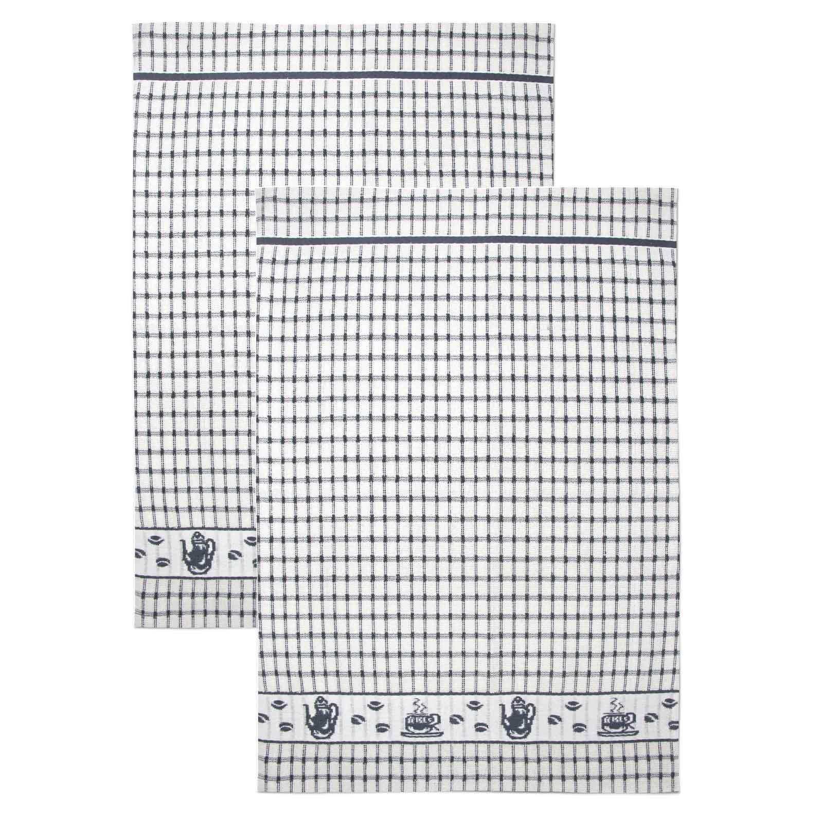 Packs-of-2-4-6-12-Tea-Towels-100-Cotton-Terry-Kitchen-Dish-Drying-Towel-Sets thumbnail 10