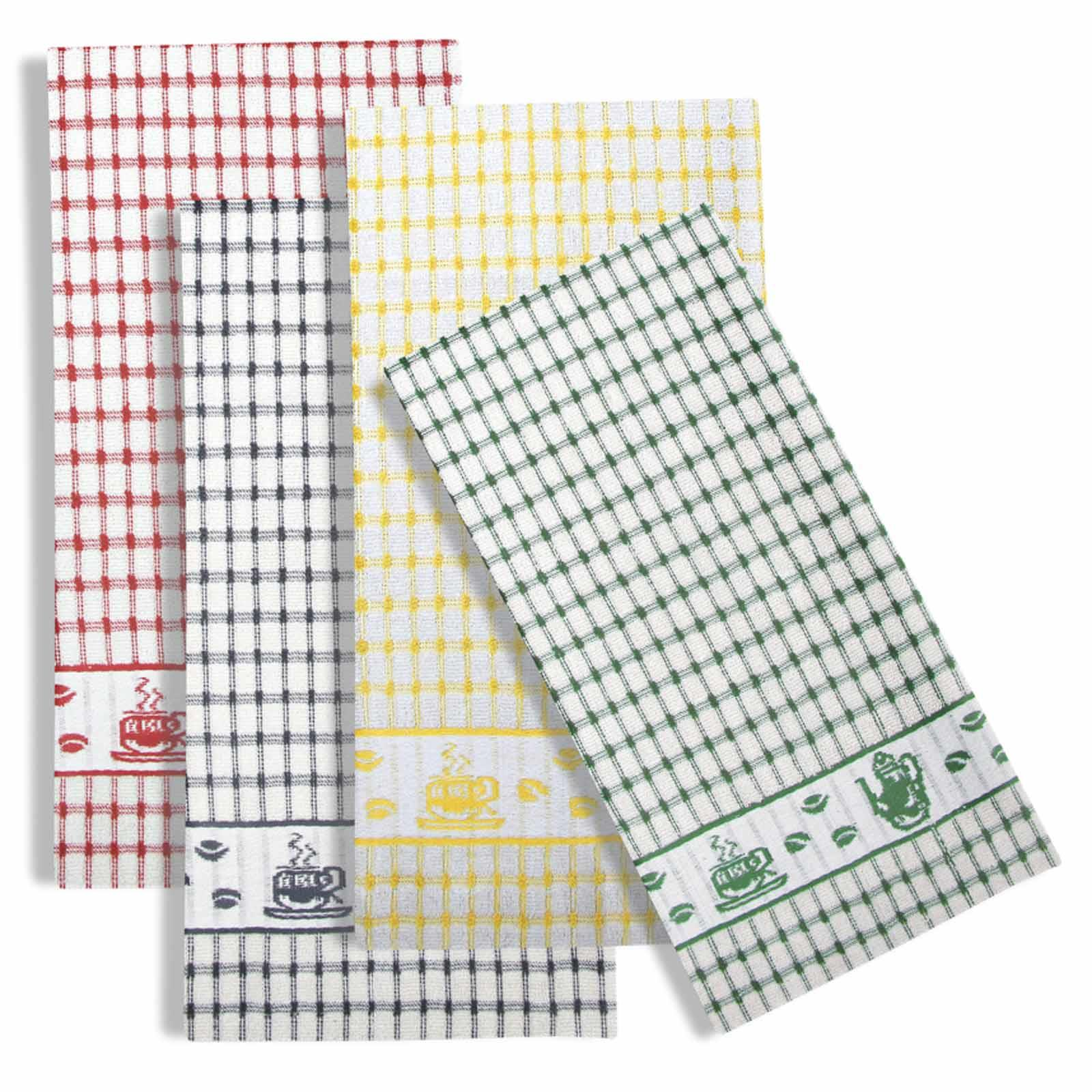 Packs-of-2-4-6-12-Tea-Towels-100-Cotton-Terry-Kitchen-Dish-Drying-Towel-Sets thumbnail 82
