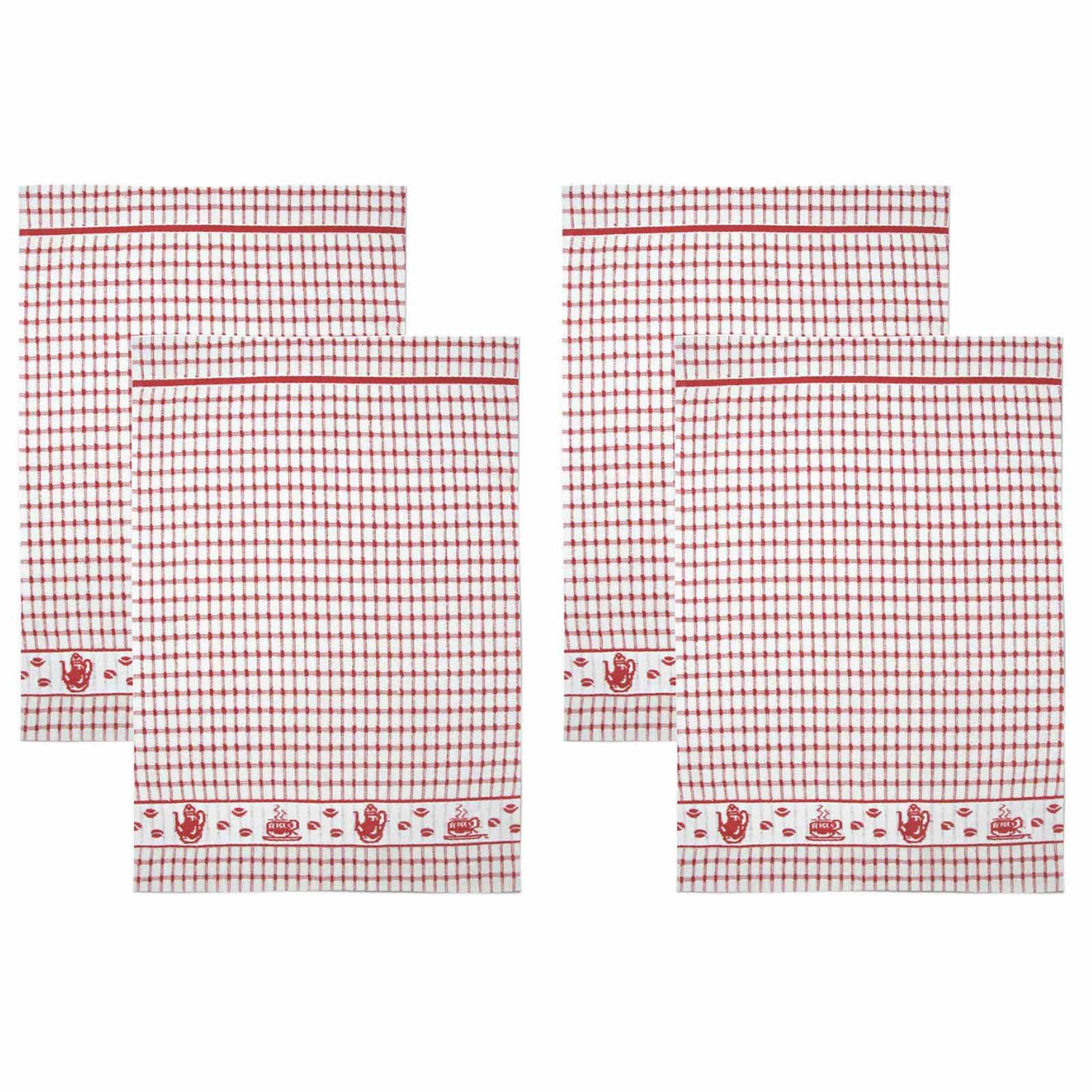 Packs-of-2-4-6-12-Tea-Towels-100-Cotton-Terry-Kitchen-Dish-Drying-Towel-Sets thumbnail 40