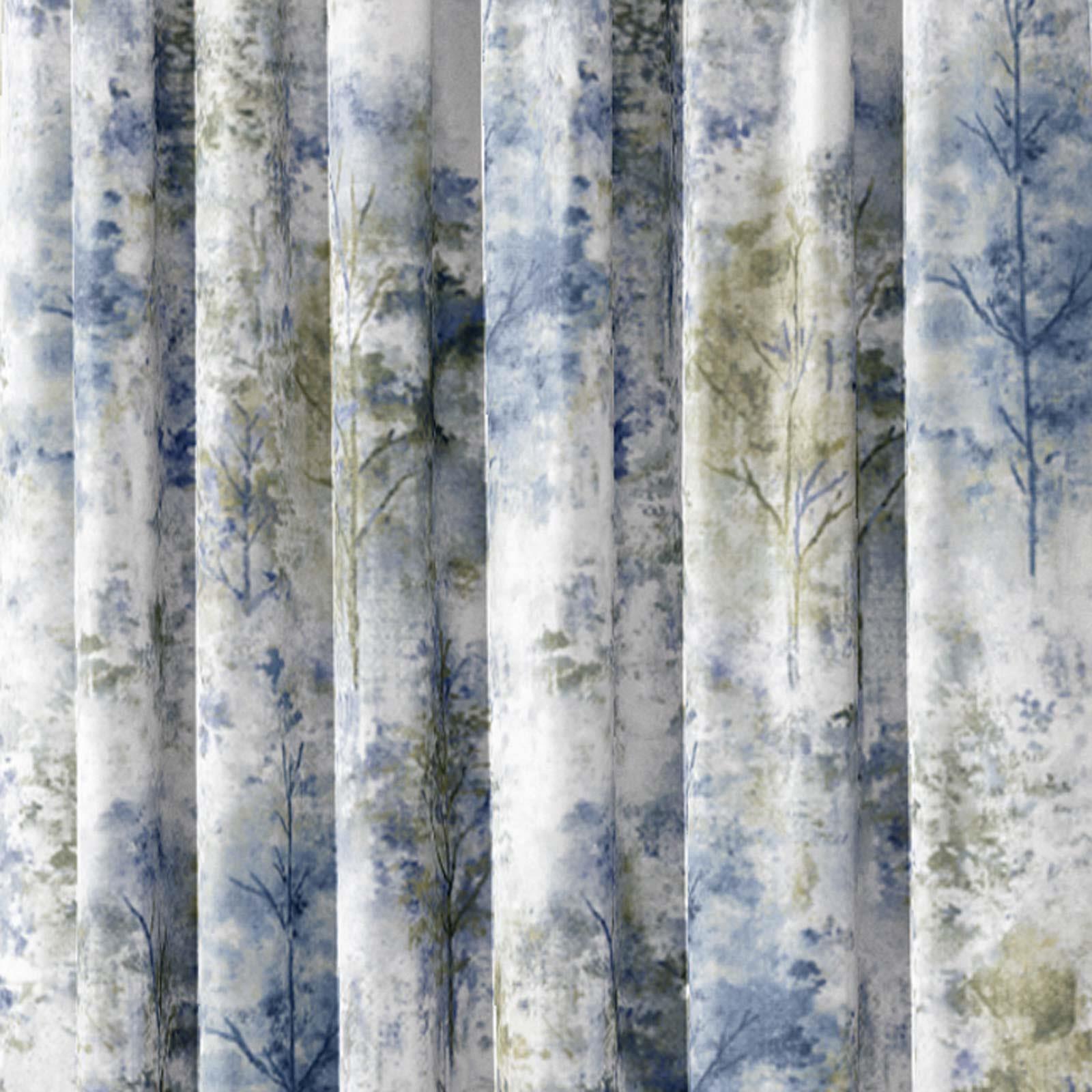 Woodland-Cinta-superior-Cortinas-de-arboles-de-impresion-Ready-Made-3-034-pares-de-cortina-plisado miniatura 11