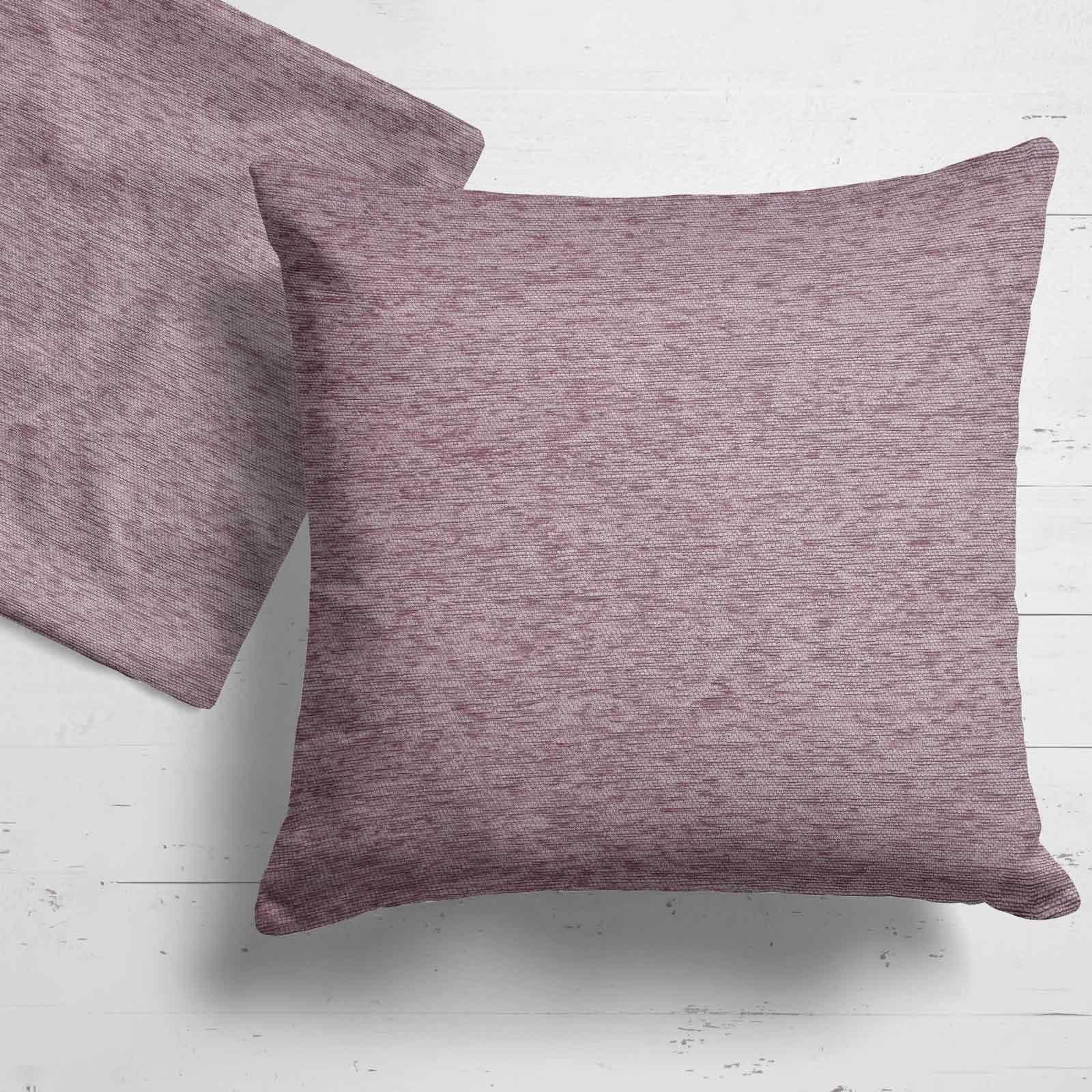 Set-of-2-Chenille-Cushion-Covers-Luxury-Plain-Cushions-Cover-Pairs-18-034-x-18-034 thumbnail 3