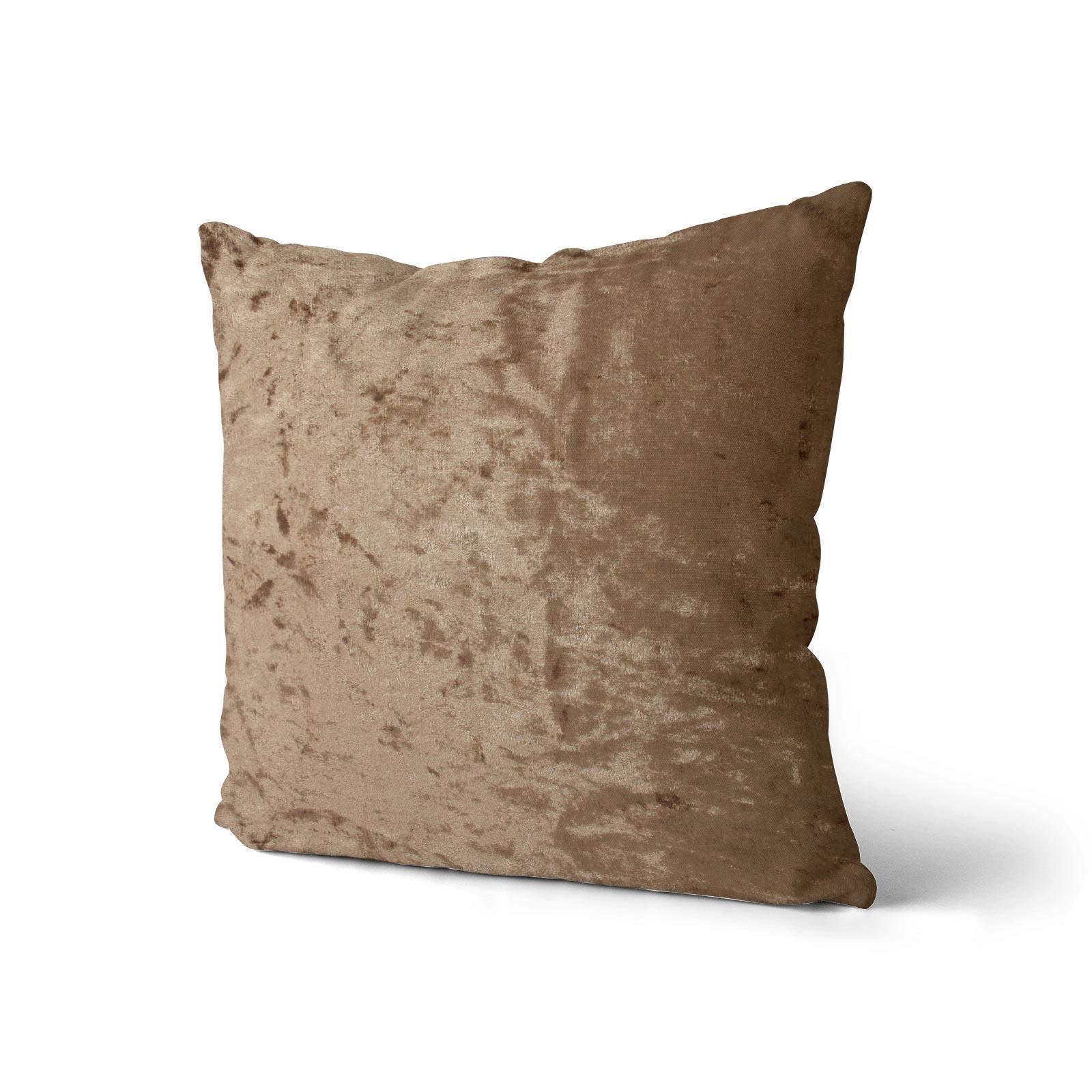 Cuscino-di-velluto-schiacciato-copre-GLAM-Tinta-Unita-Copricuscino-18-034-x-18-034-45cm-x-45cm miniatura 35