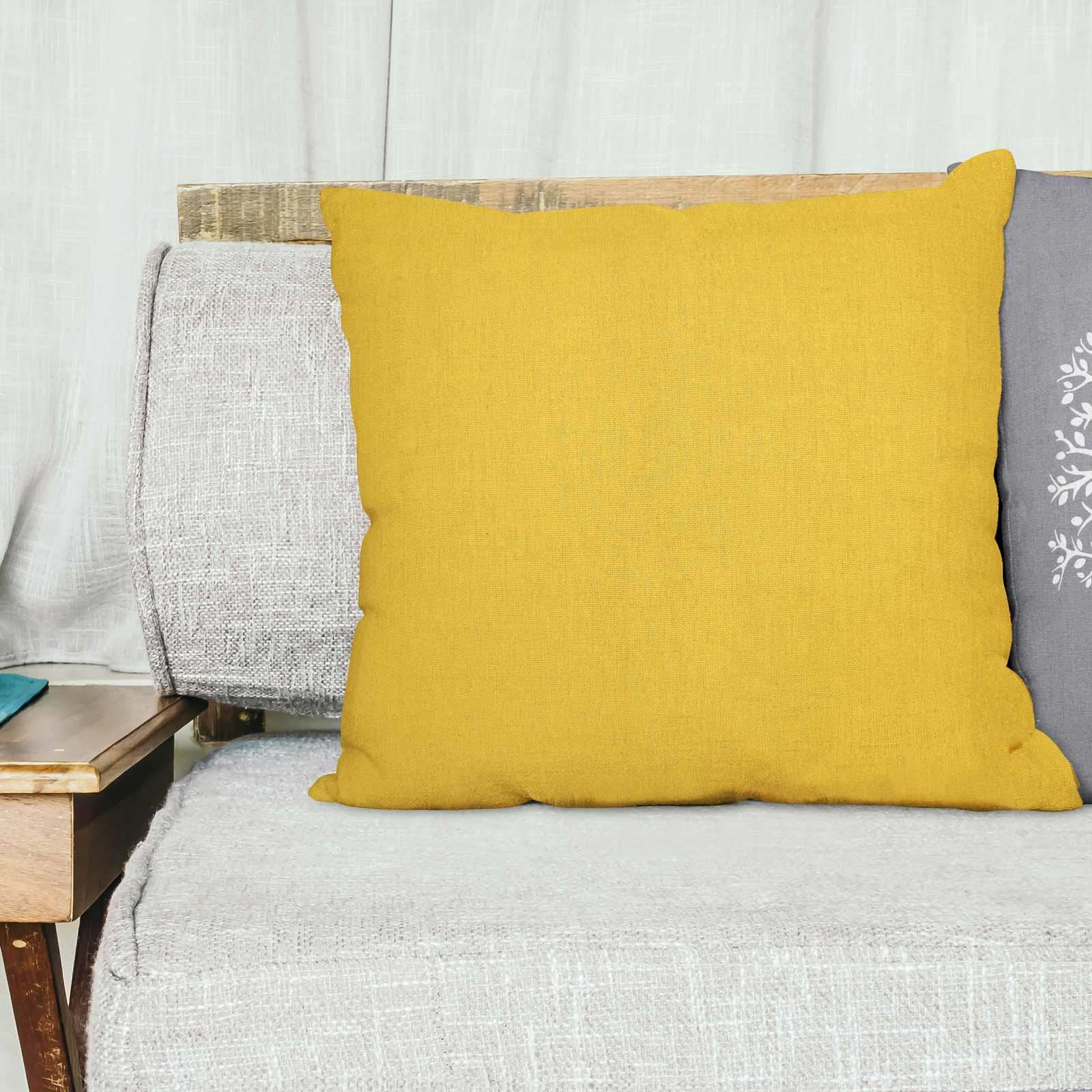 Grey-Ochre-Mustard-Cushion-Cover-Collection-17-034-18-034-Covers-Filled-Cushions thumbnail 73