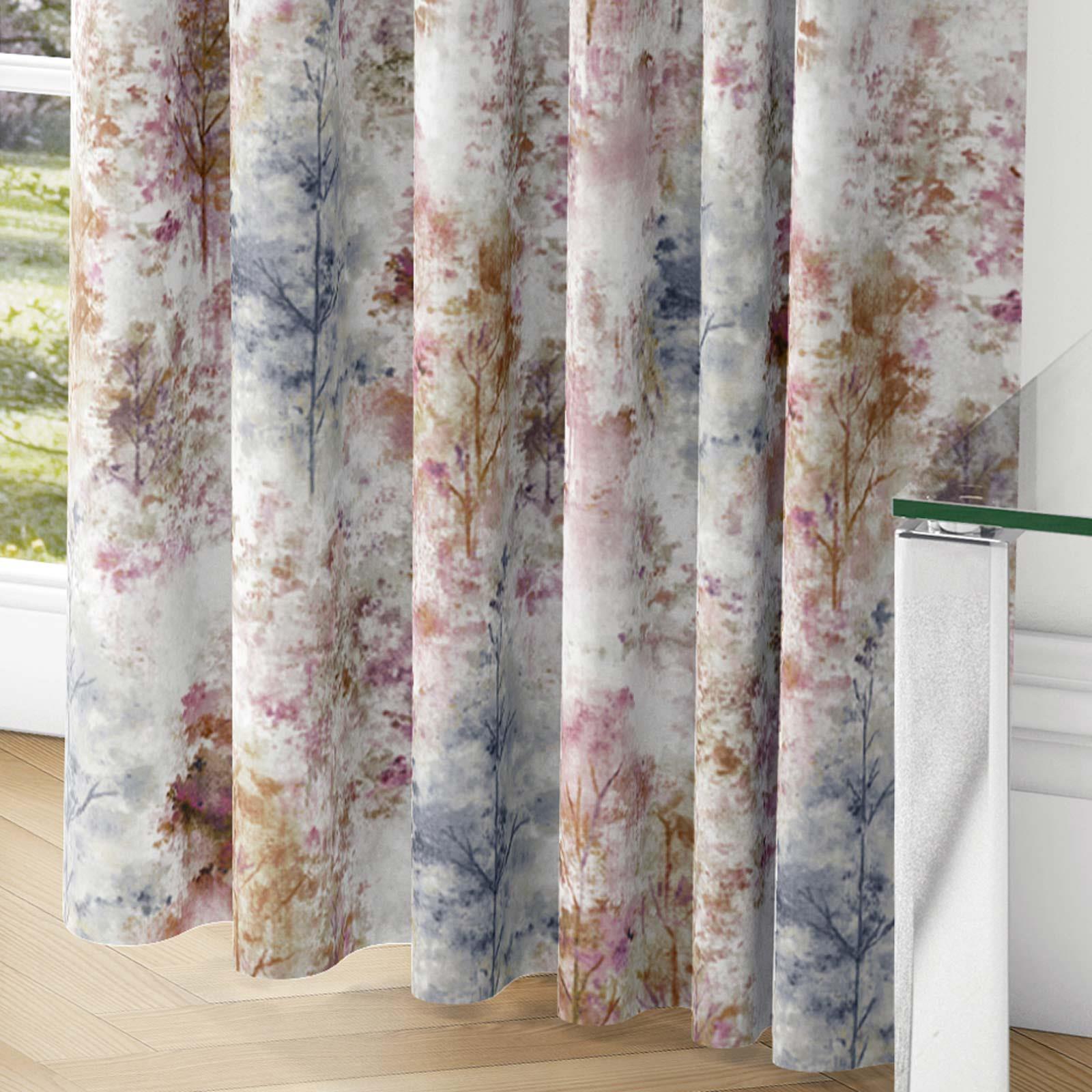 Woodland-Cinta-superior-Cortinas-de-arboles-de-impresion-Ready-Made-3-034-pares-de-cortina-plisado miniatura 6