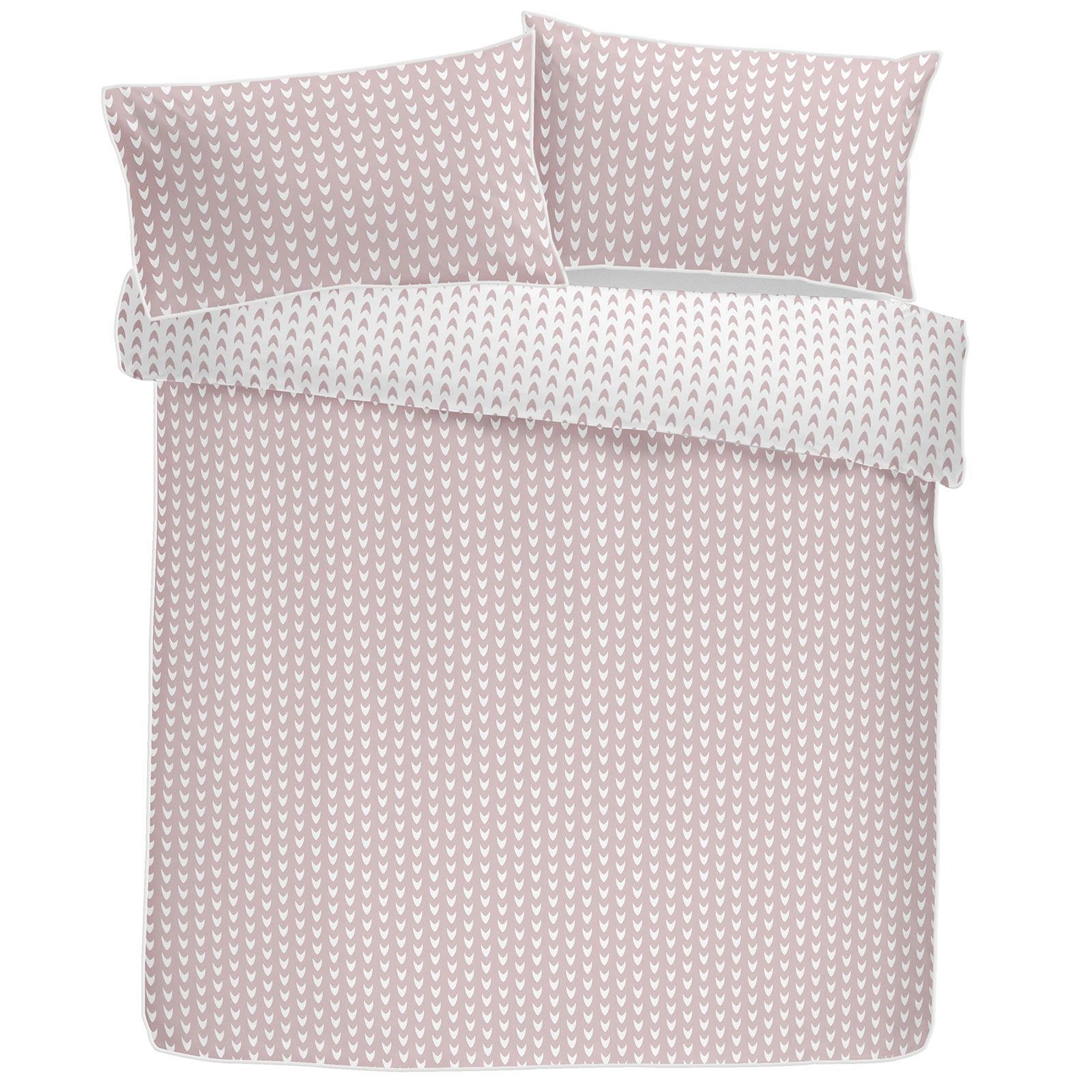 Blush-fundas-nordicas-Rosa-Geometrico-100-Algodon-Edredon-Reversible-conjuntos-de-cama miniatura 5