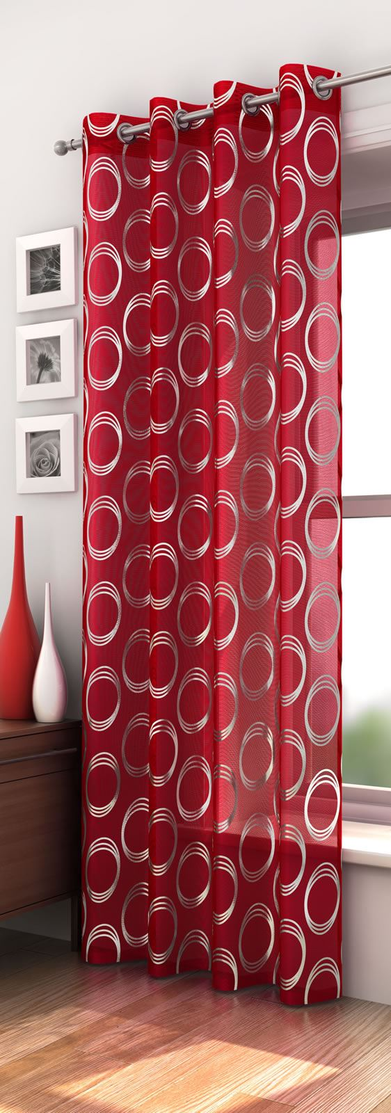 Mexico Retro Circle Pattern Voile Curtain Panel Ready Made
