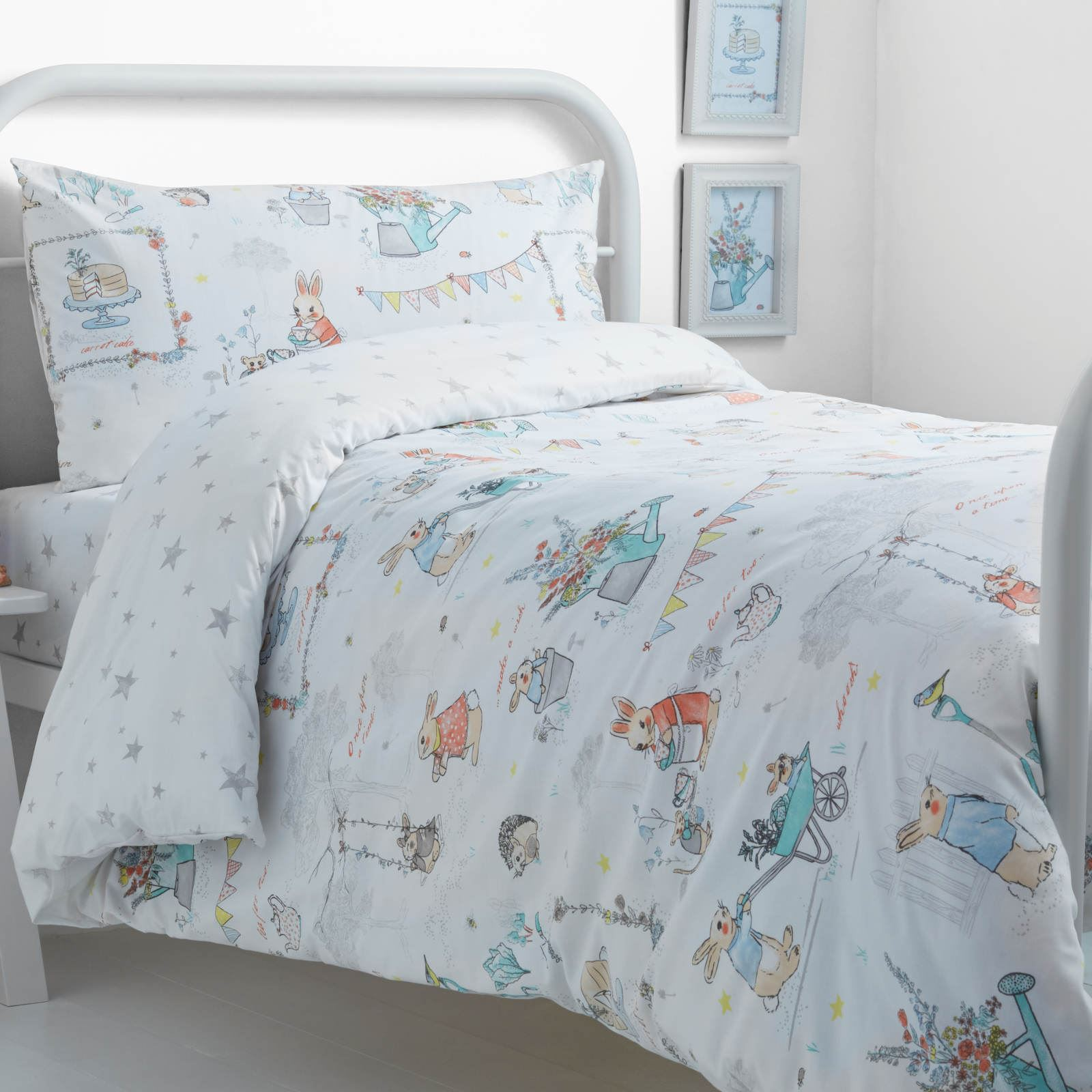 This Beautifully Hand Drawn Bedding Print Features Little Billy Bunny  Enjoying A Tea Party With His Friends And Family. This Classic Design Has A  Vintage ...