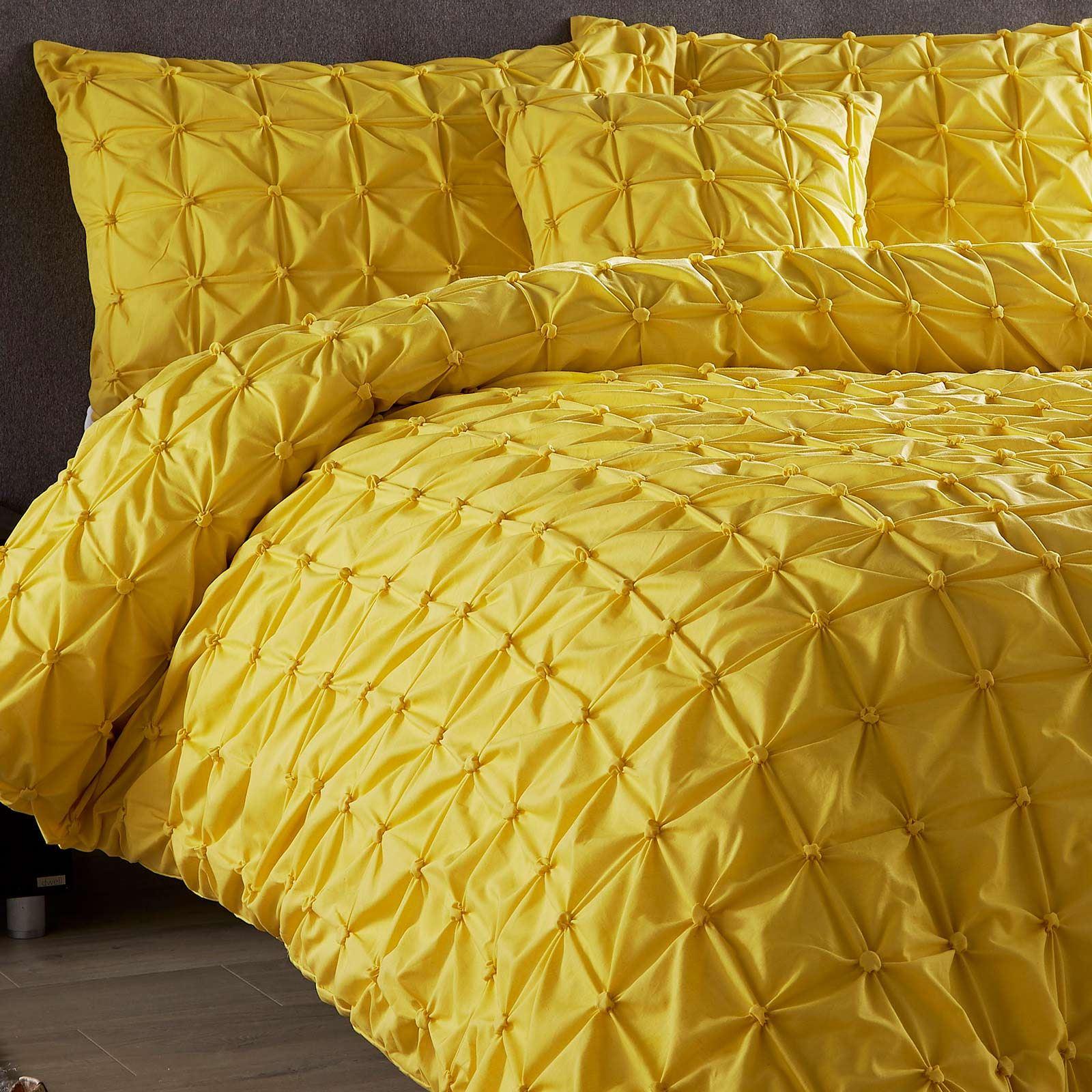 Pleated-Duvet-Covers-Seville-Pintuck-Luxury-Cotton-Rich-Quilt-Bedding-Sets thumbnail 8
