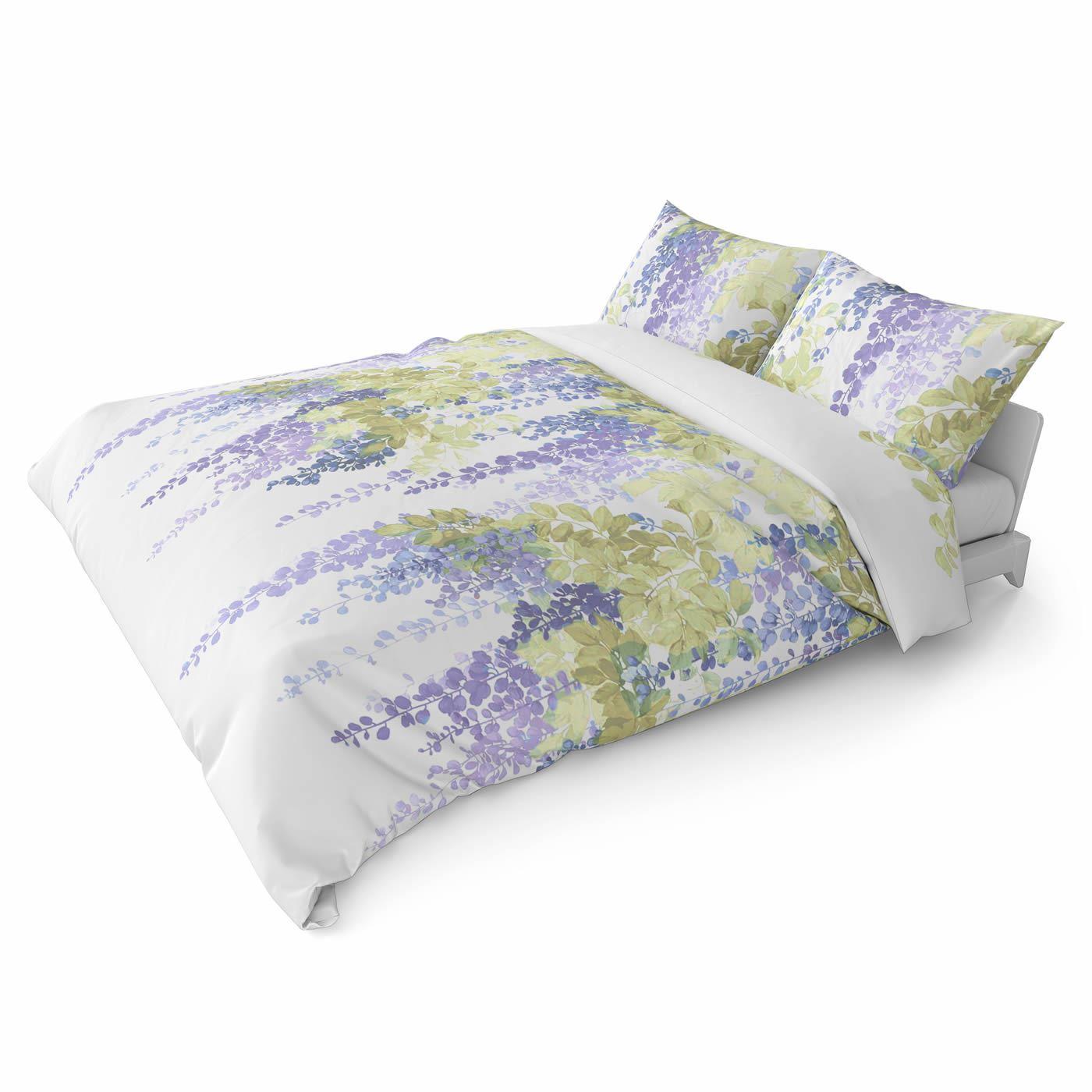 Funda-nordica-azul-azul-marino-verde-azulado-edredon-algodon-estampado-juego-conjuntos-de-cama-cubre miniatura 26