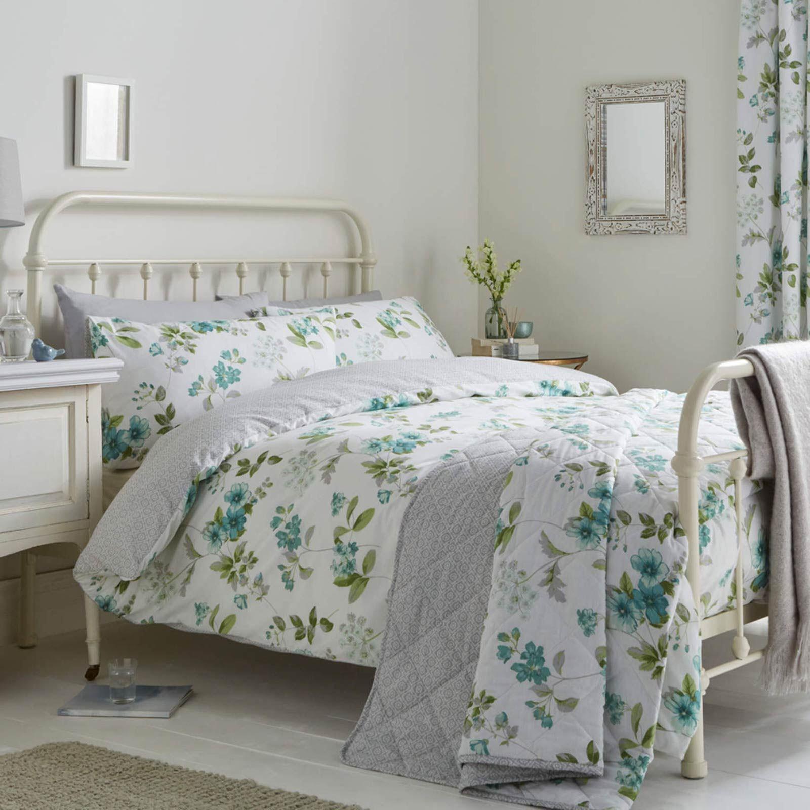 Floral-Fundas-nordicas-Lorena-Vintage-Estampado-De-Flores-conjuntos-de-ropa-de-cama-de-edredon-de miniatura 10